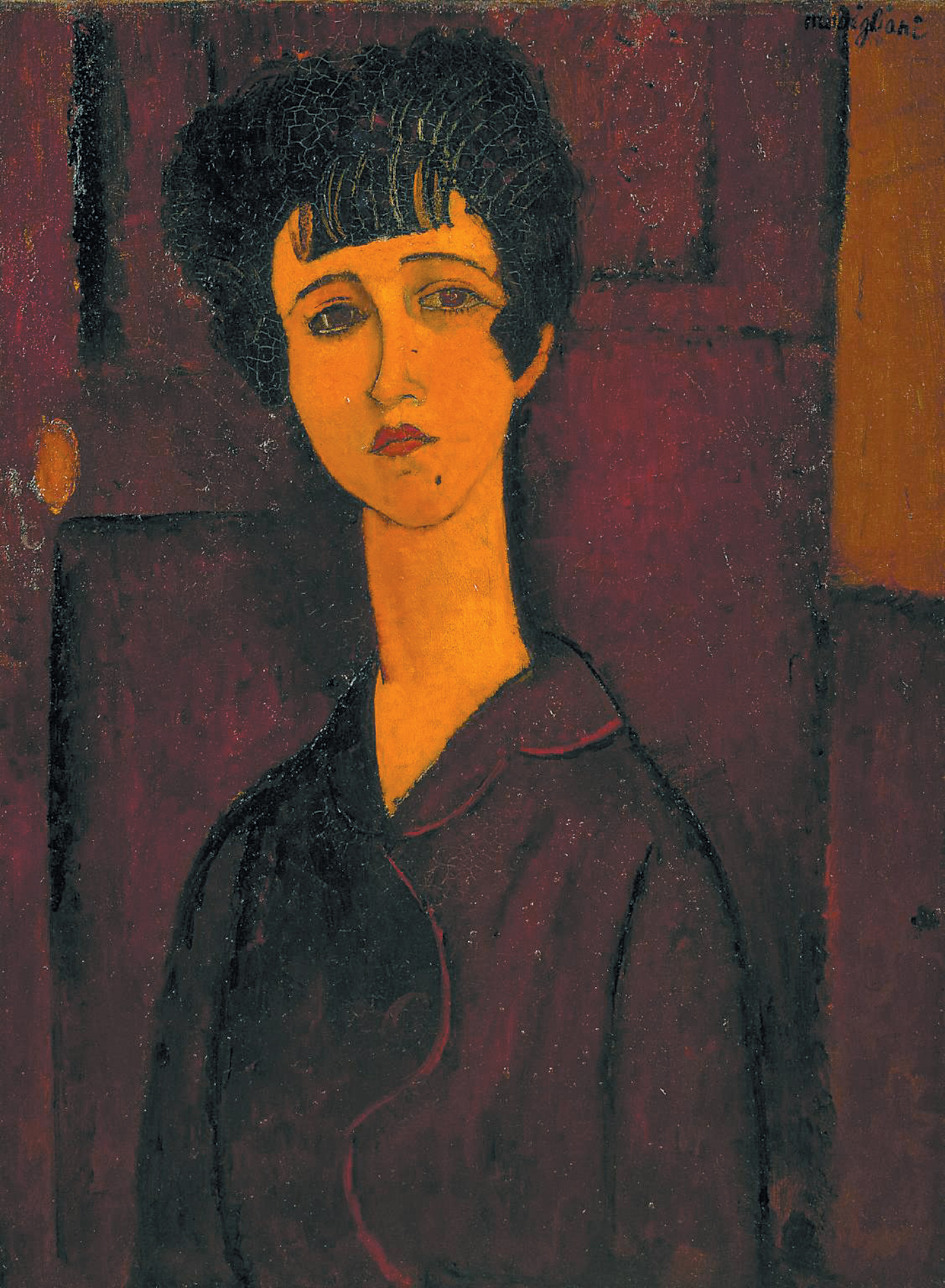 'Portrait of a Girl'; painting by Amedeo Modigliani, circa 1917