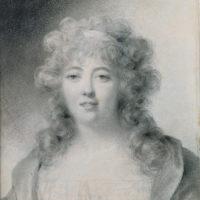 Madame de Staël; portrait by Jean-Baptiste Isabey, 1810