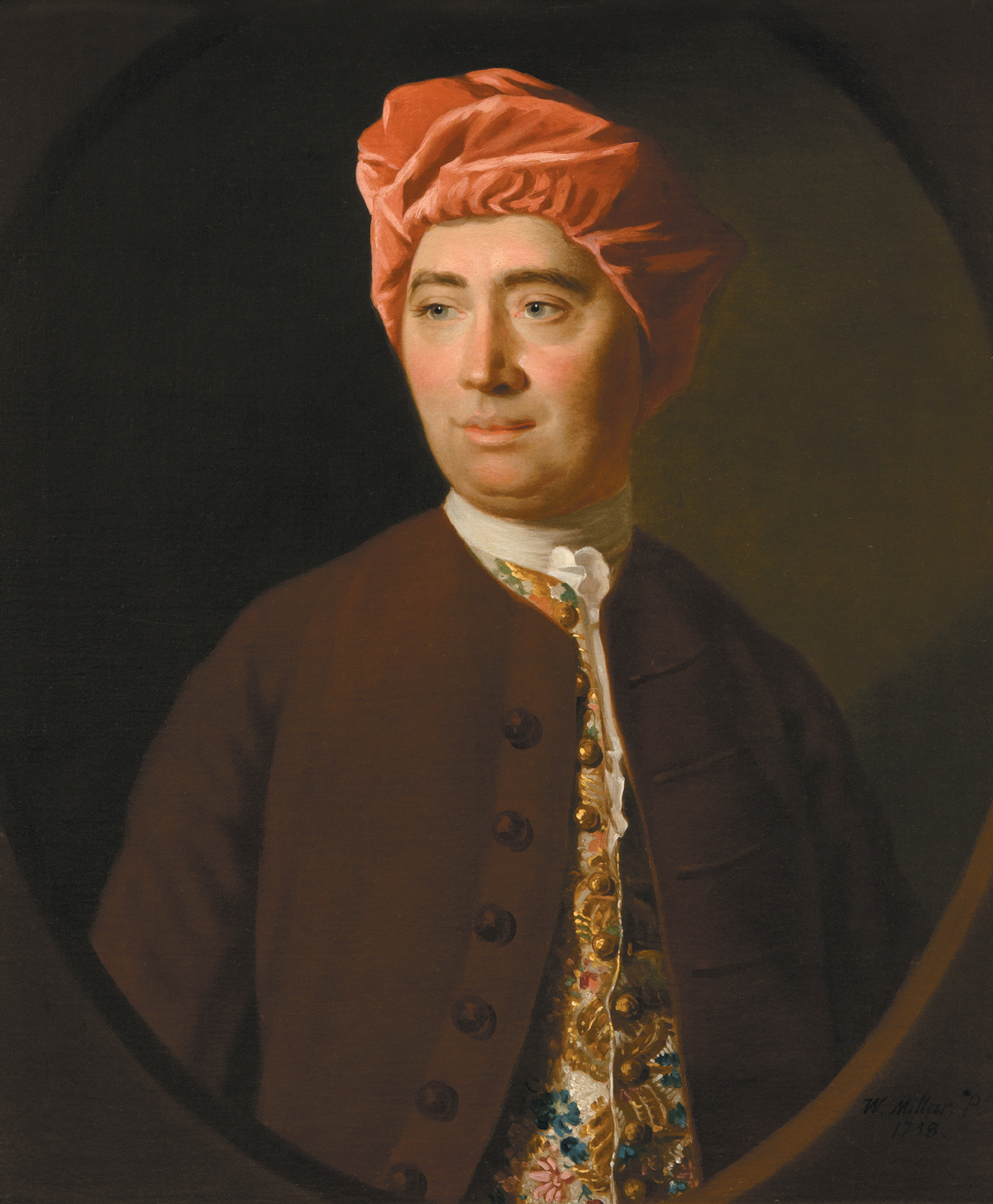David Hume; portrait by Allan Ramsay, 1754