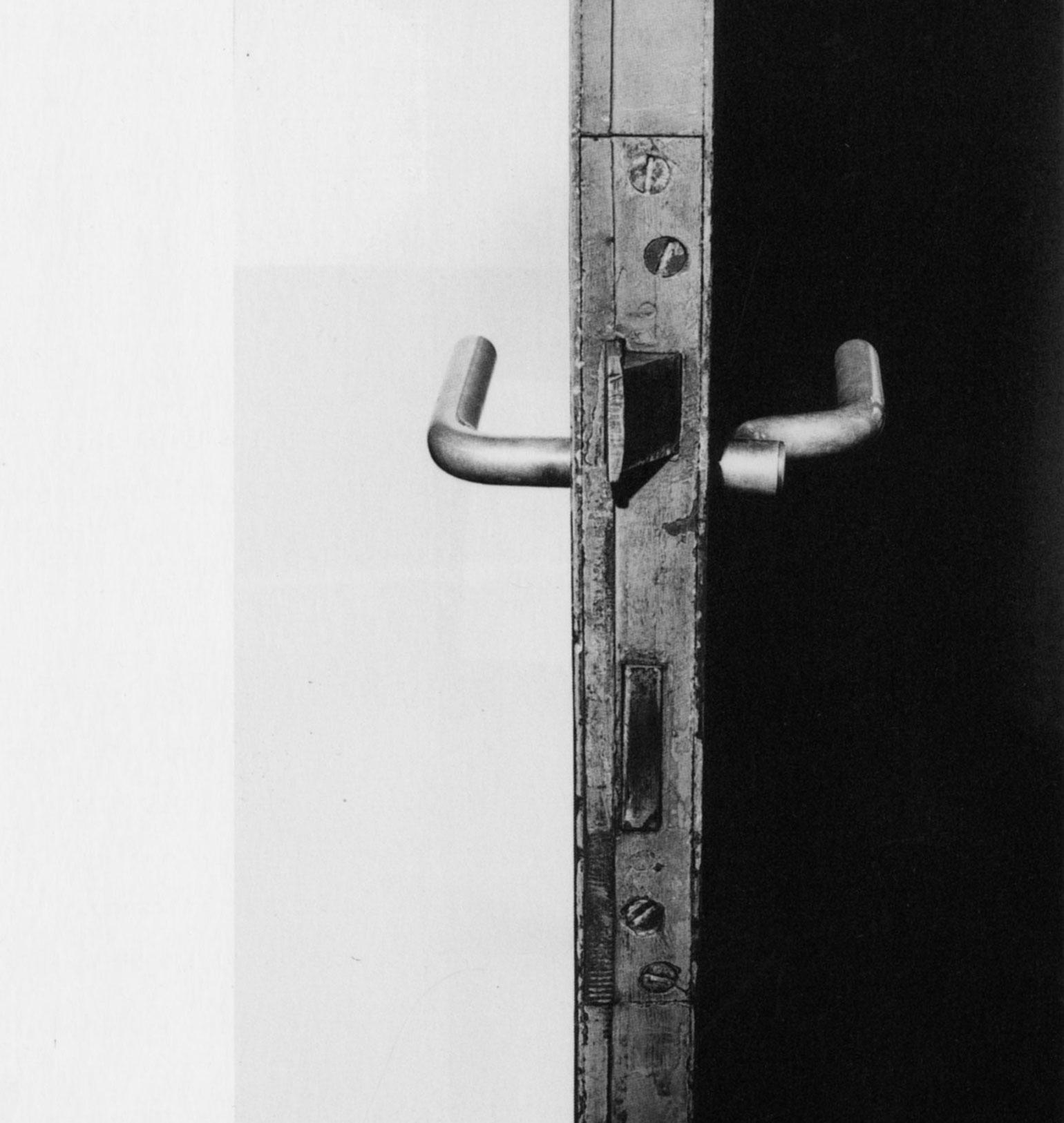 A door handle in the house Ludwig Wittgenstein designed with architect Paul Engelmann, 1972