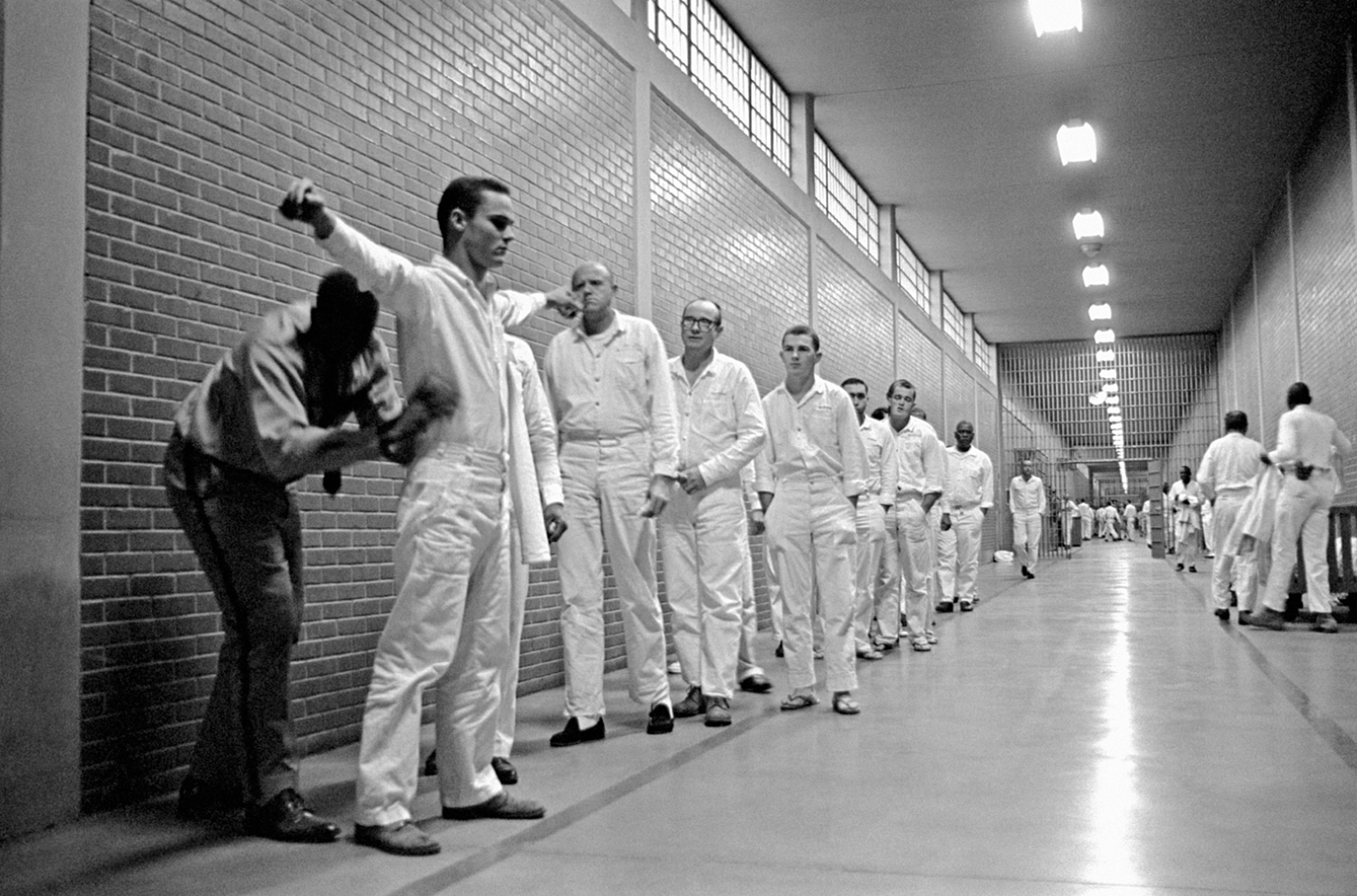 A Shakedown Of Inmates In The Main Corridor Of The Ellis Prison Farm,  Huntsville,