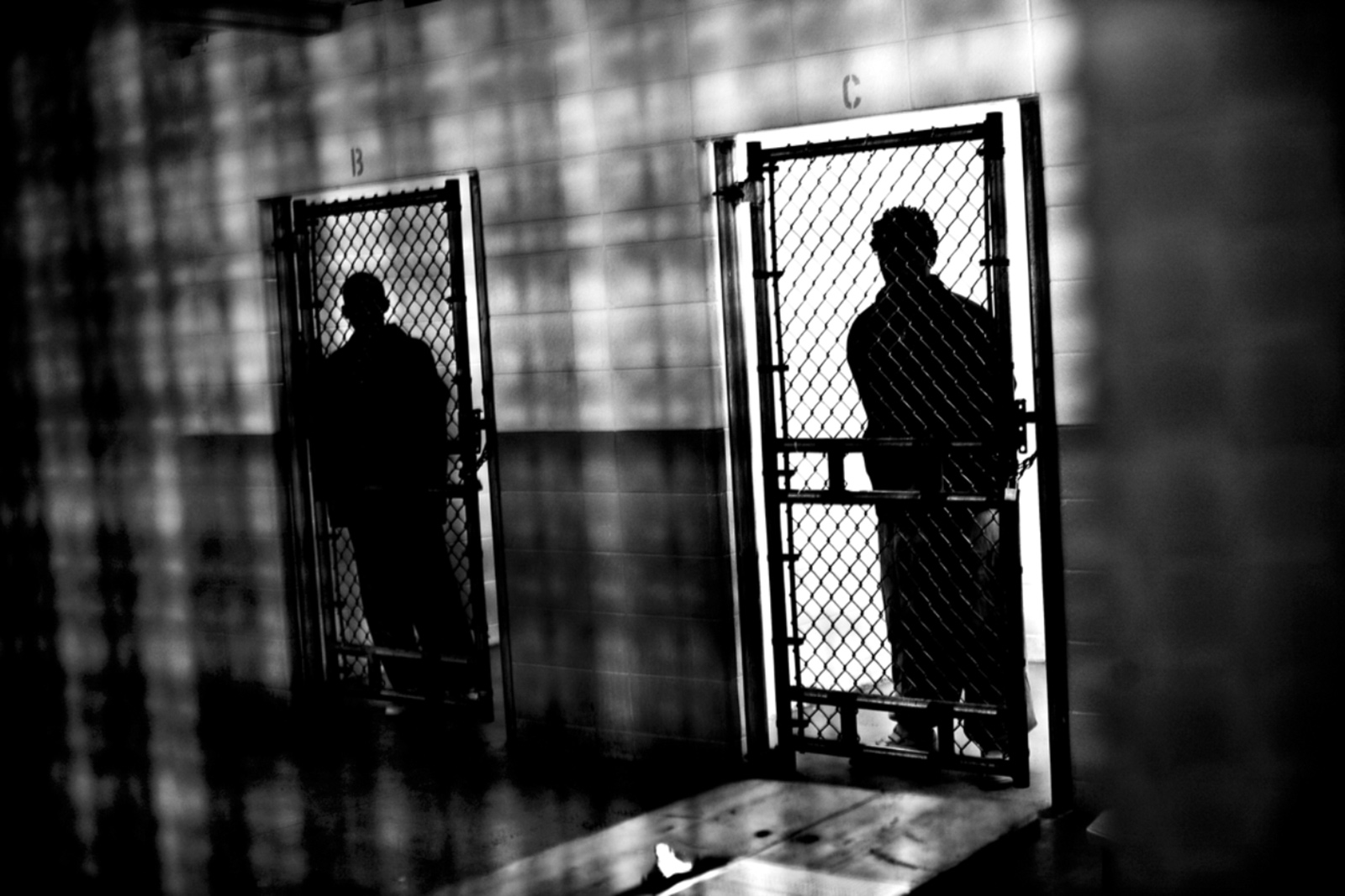 Teenagers held in confinement cells at a state juvenile detention center, St. Charles, Illinois, 2009