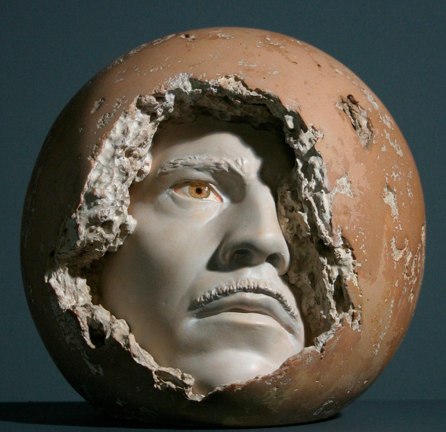 Arthur Kern: Self-Portrait, 10 inches in diameter, 1969