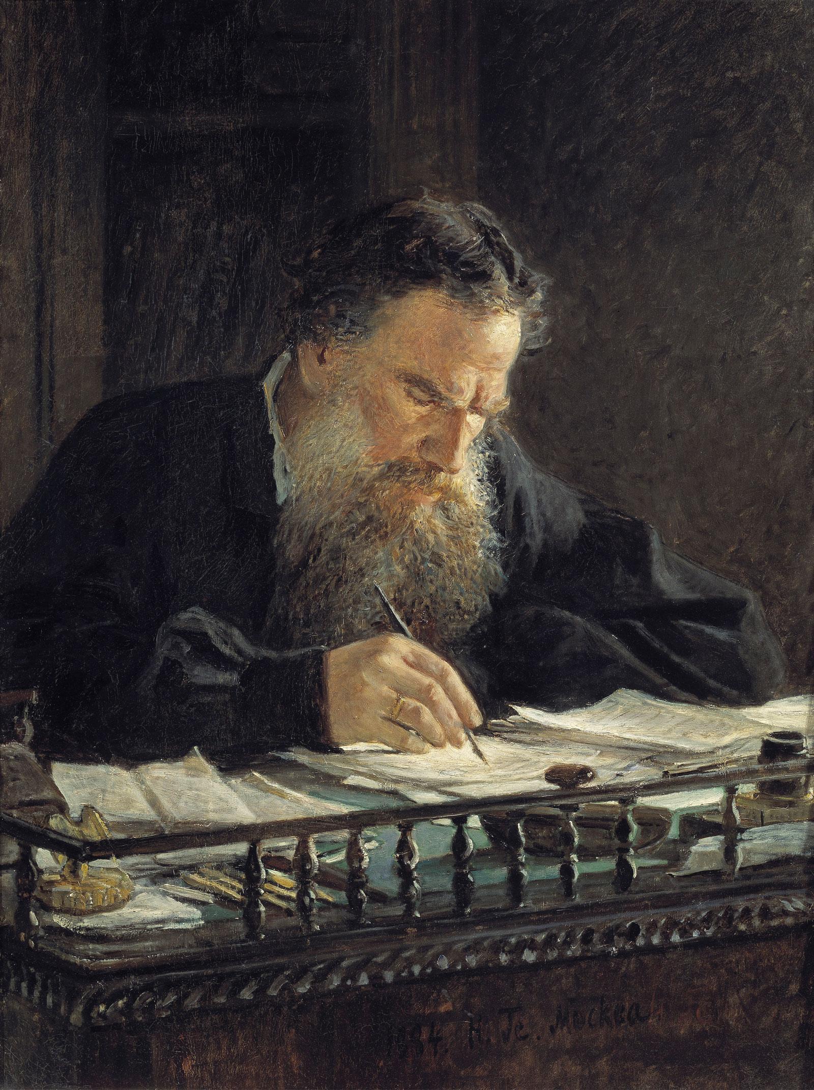 Nikolai Ge: Leo Tolstoy, 1884