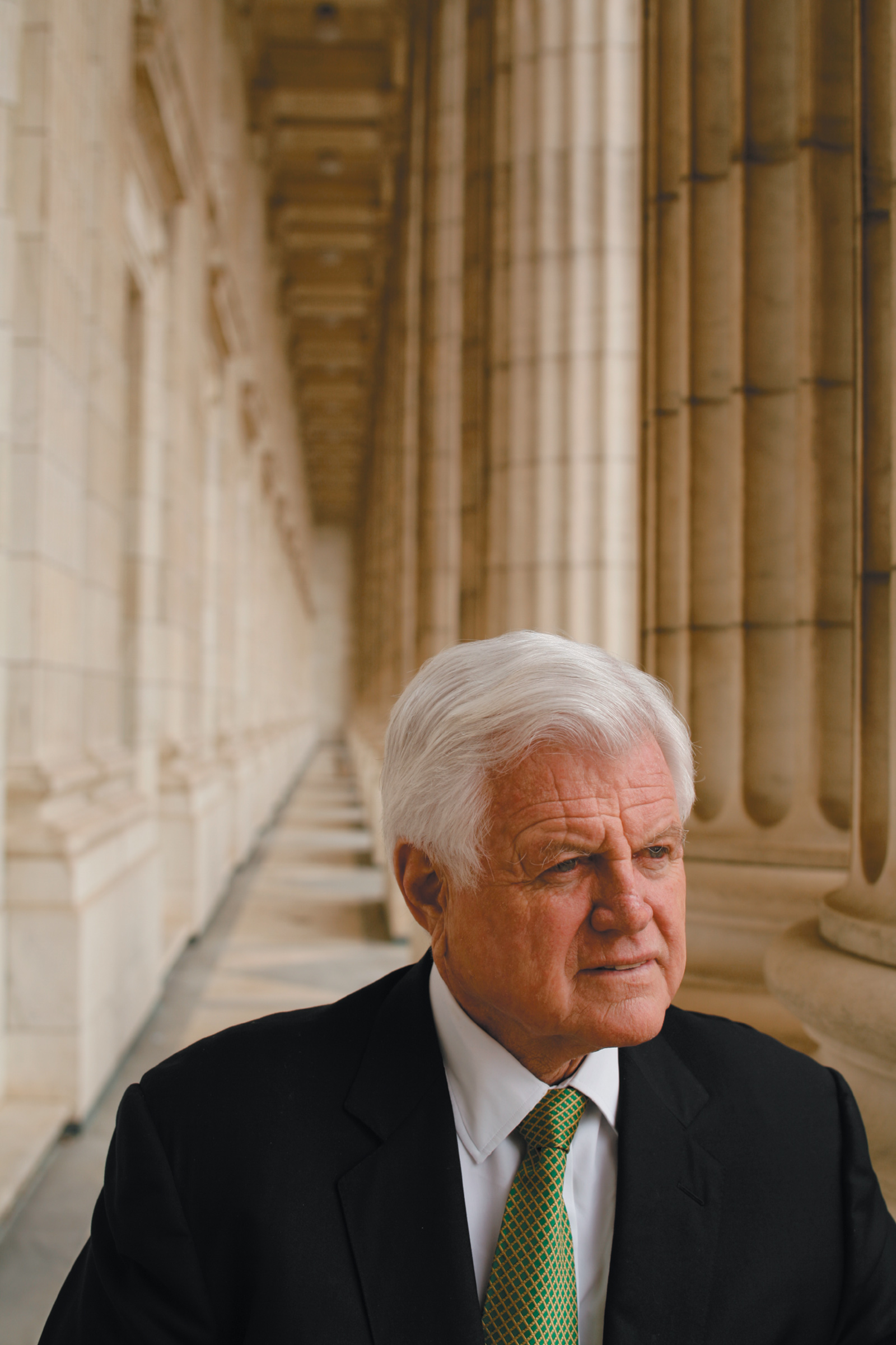 Ted Kennedy outside his office at the Russell Senate Office Building, Washington, D.C., March 2006