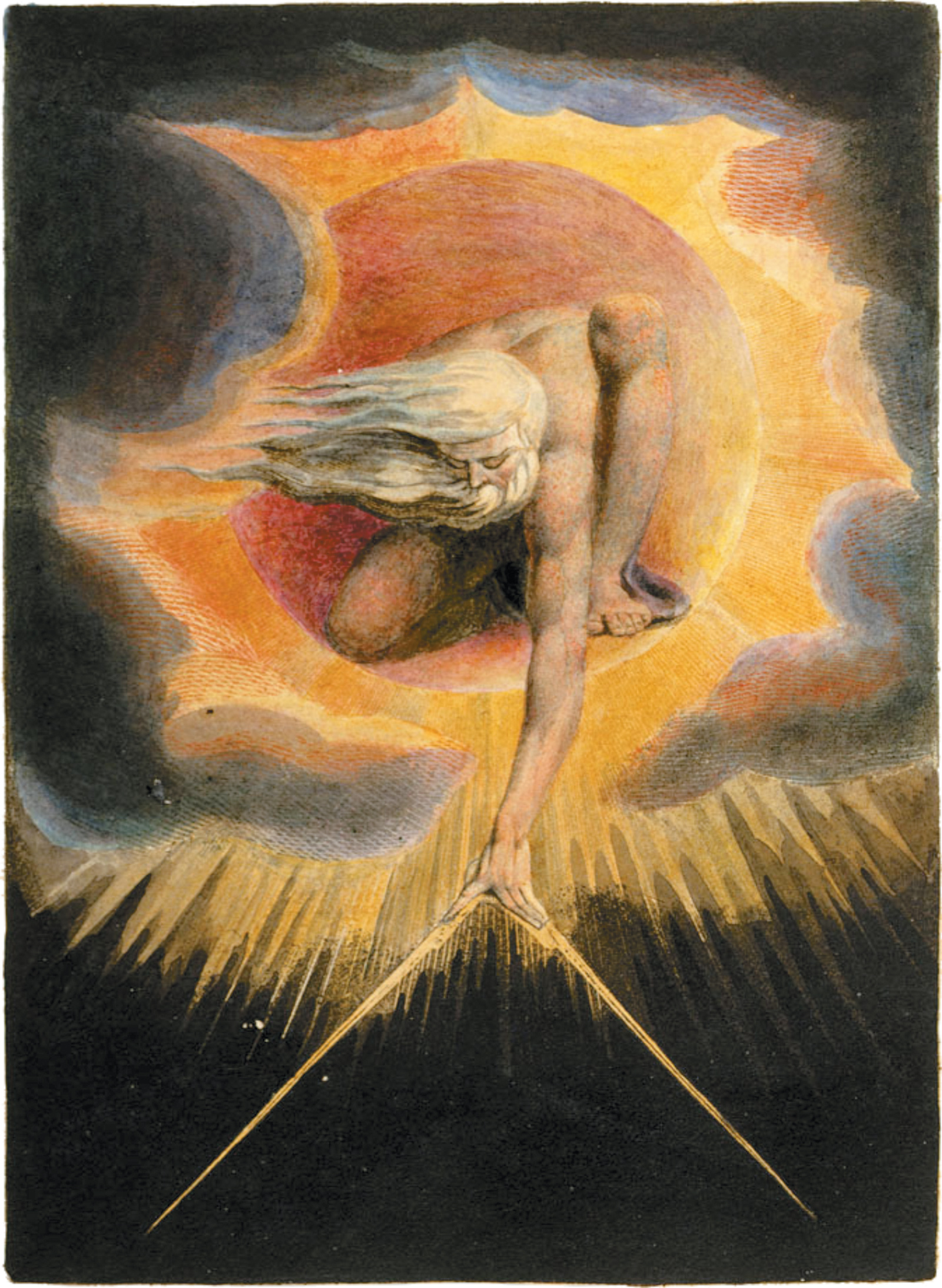 William Blake: The Ancient of Days, frontispiece to Europe a Prophecy, 1794