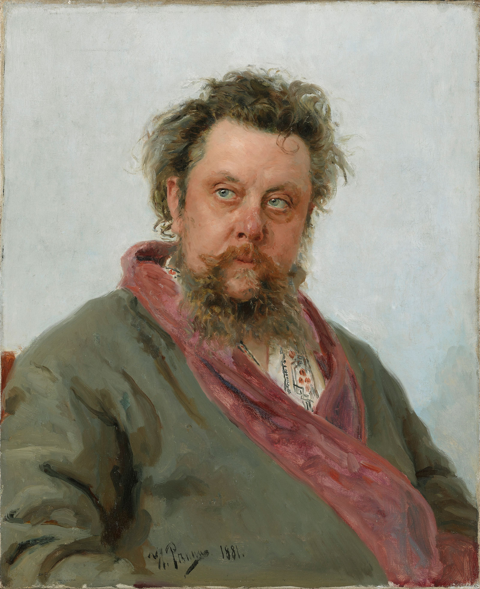 Ilia Repin: Modest Mussorgsky, 1881