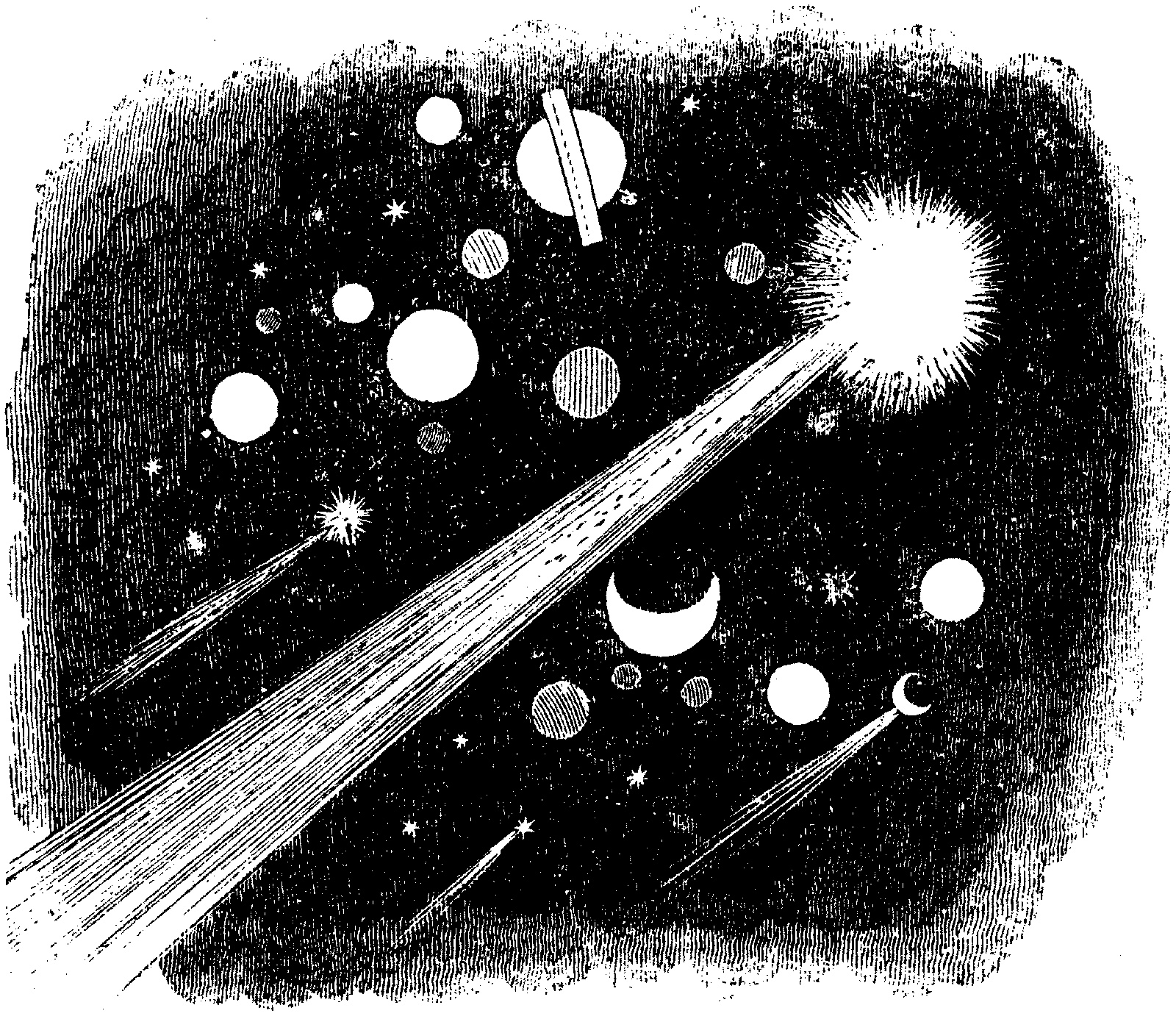 'The Planets'; nineteenth-century engraving by J.J. Grandville