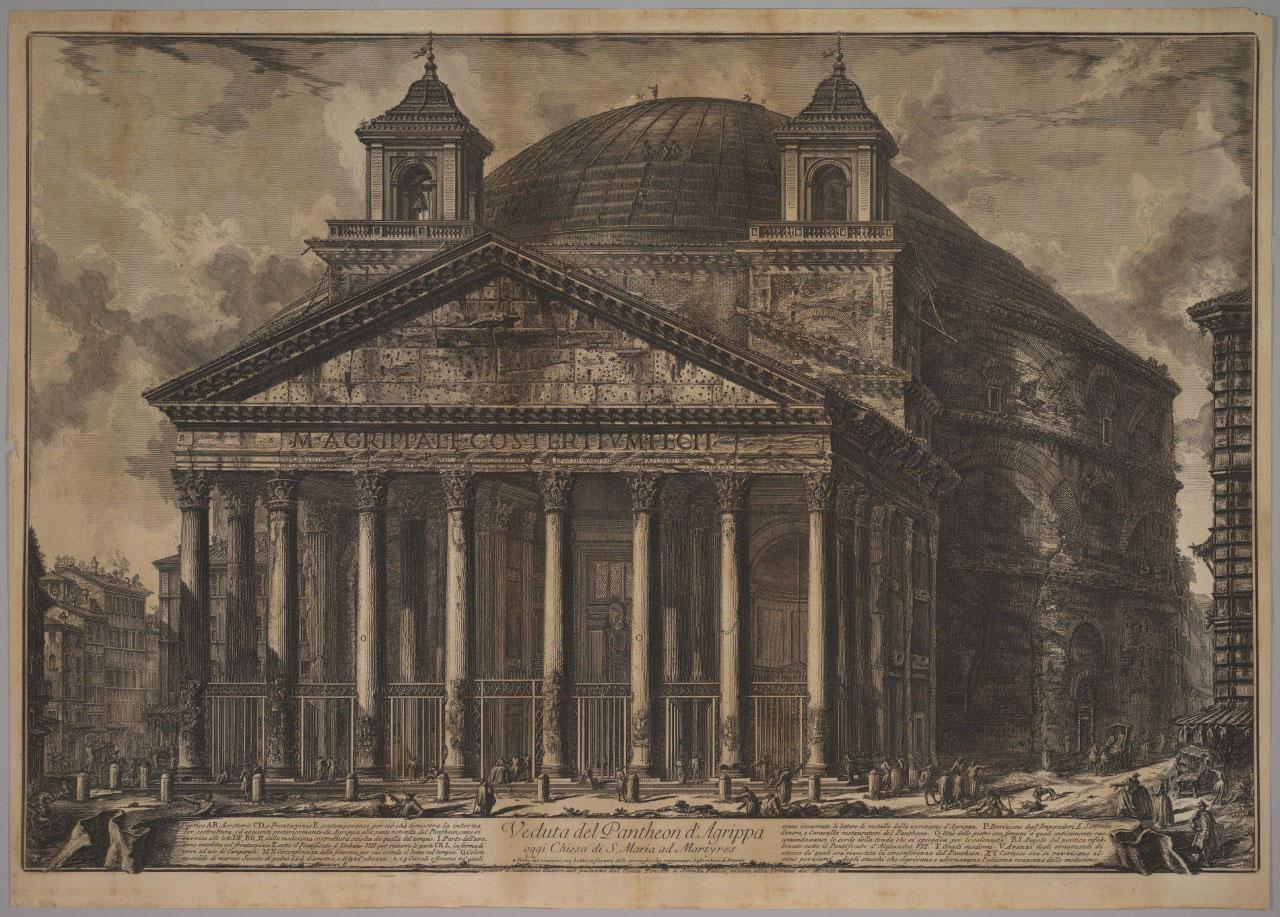 Giovanni Battista Piranesi: The Pantheon exterior, 1720–78