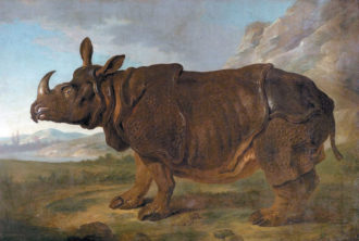 'Clara the Rhinoceros'; painting by Jean-Baptiste Oudry, 1749