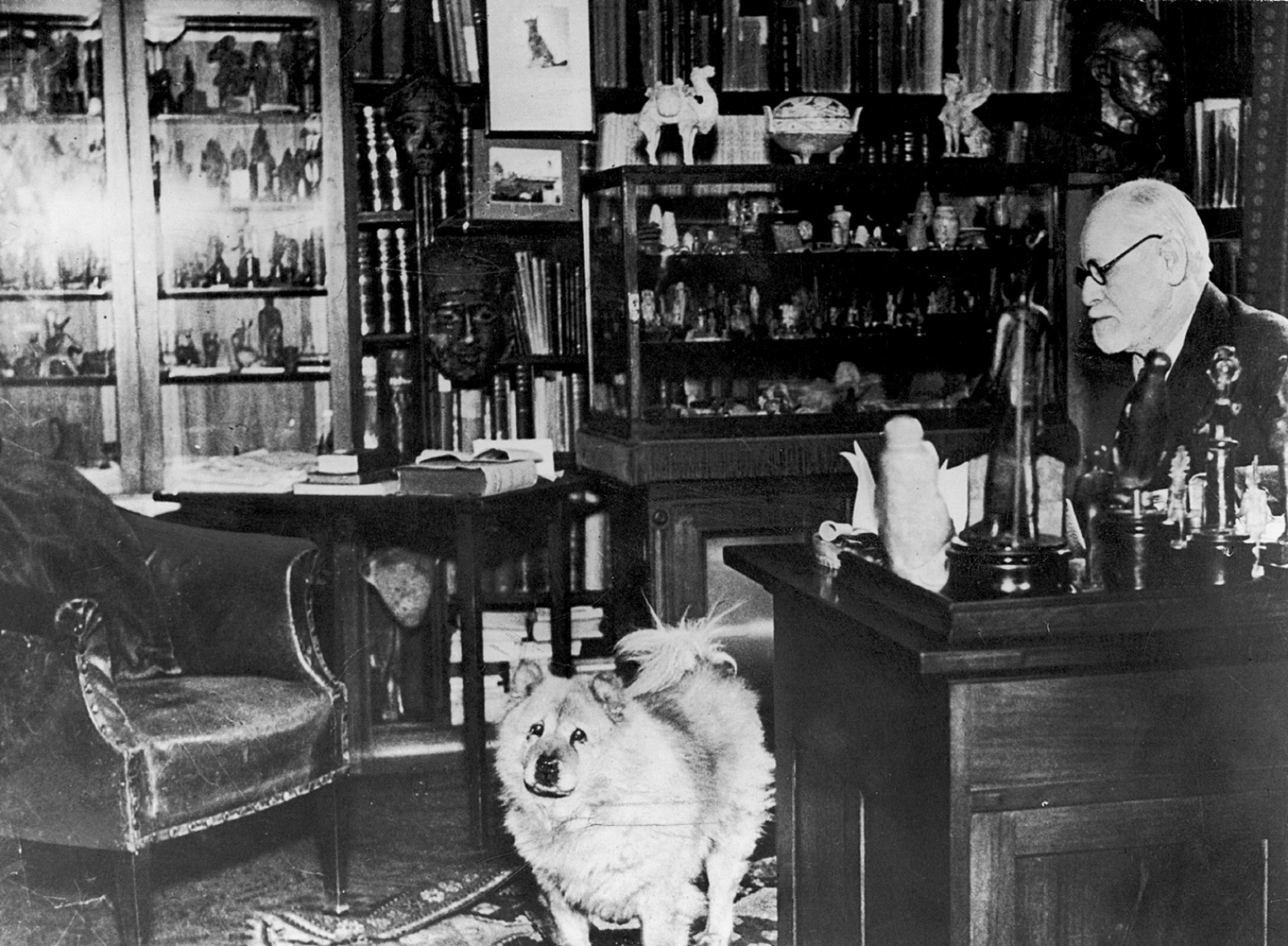 Sigmund Freud in his consulting room, Vienna, 1937