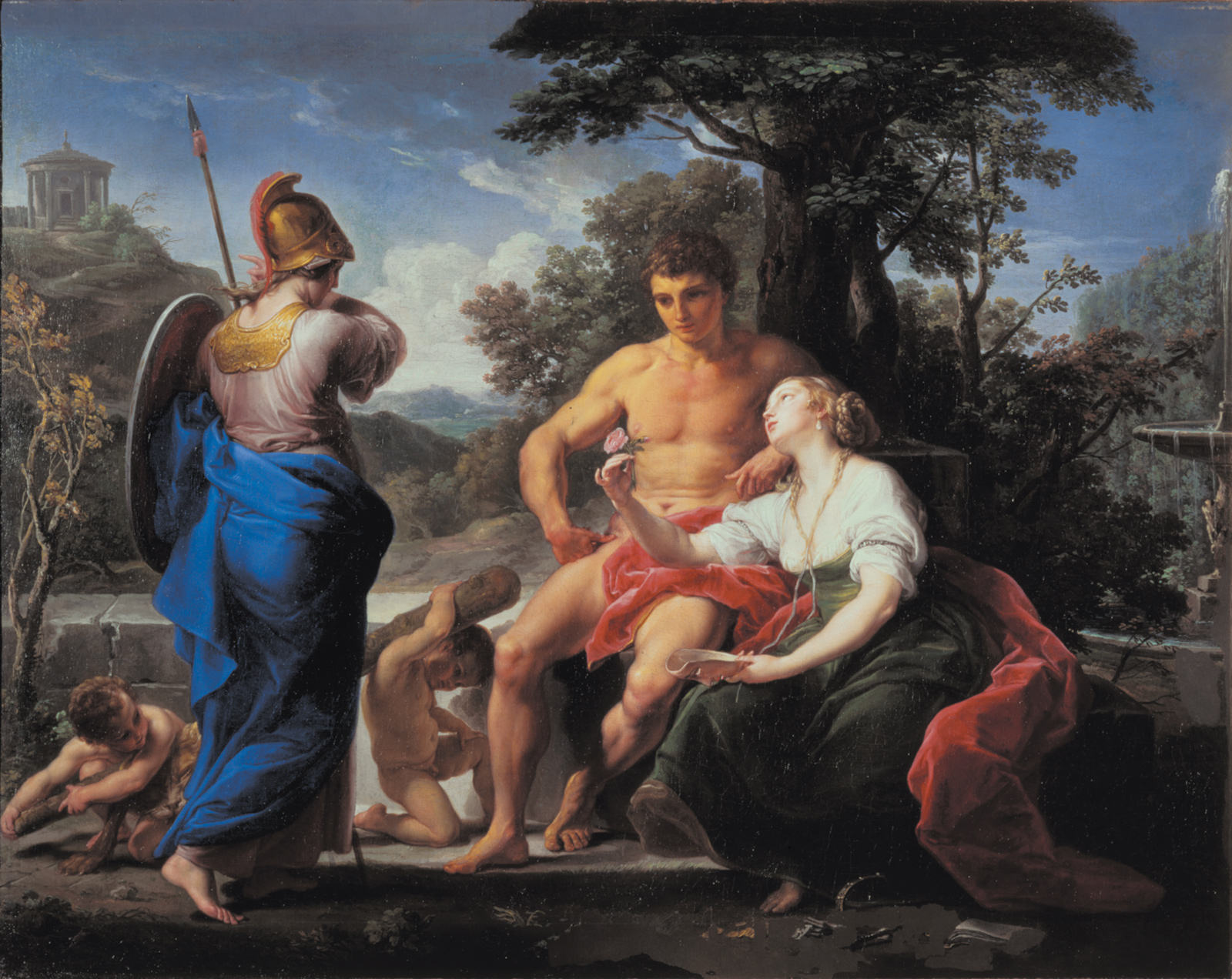 Pompeo Batoni: Hercules at the Crossroads, circa 1753