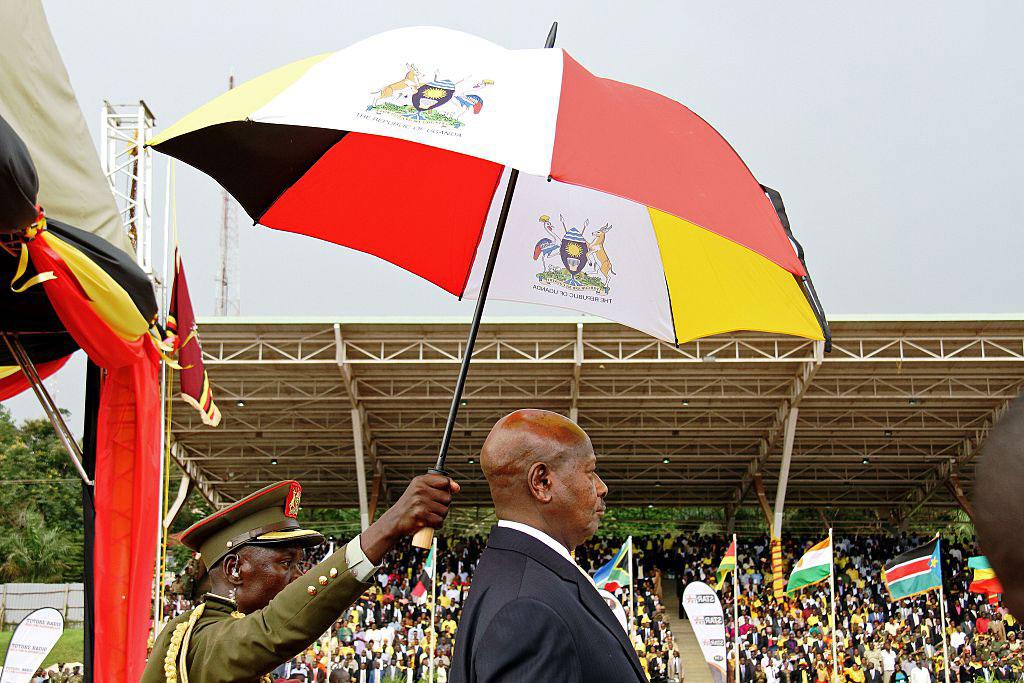 Ugandan President Yoweri Museveni at his swearing-in ceremony, Kampala, May 12, 2016