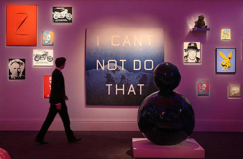 Edward Ruscha's <em>I Can't Not Do That</em> at Sotheby's, London, England, March 4, 2015