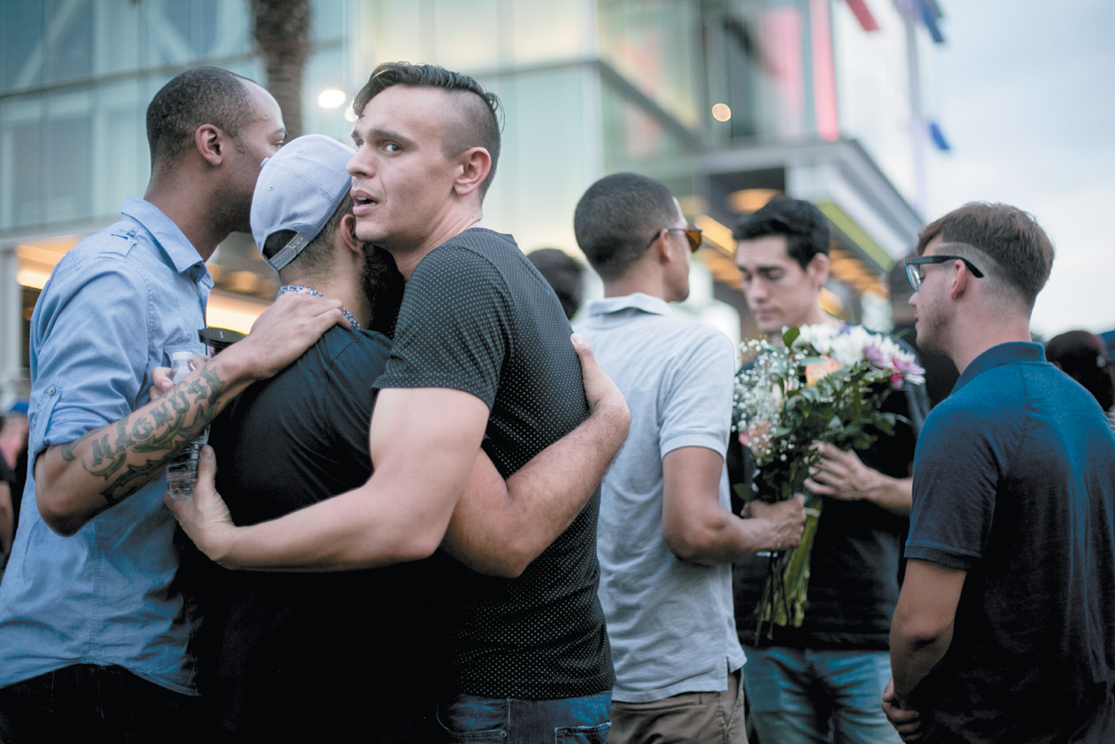 A vigil for the victims of the Pulse nightclub shooting, Orlando, Florida, June 13, 2016