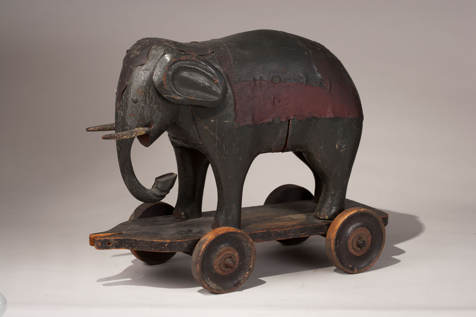 Elephant pull-toy, 1830-1880