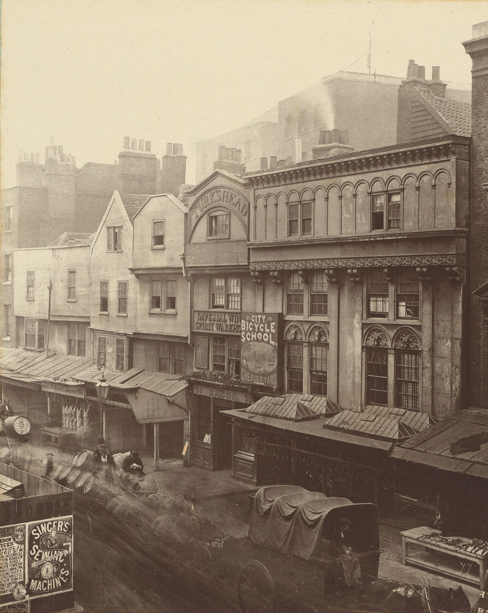 "Henry and Thomas James Dixon, no. 77, ""Old houses, Aldgate,"" 1883"