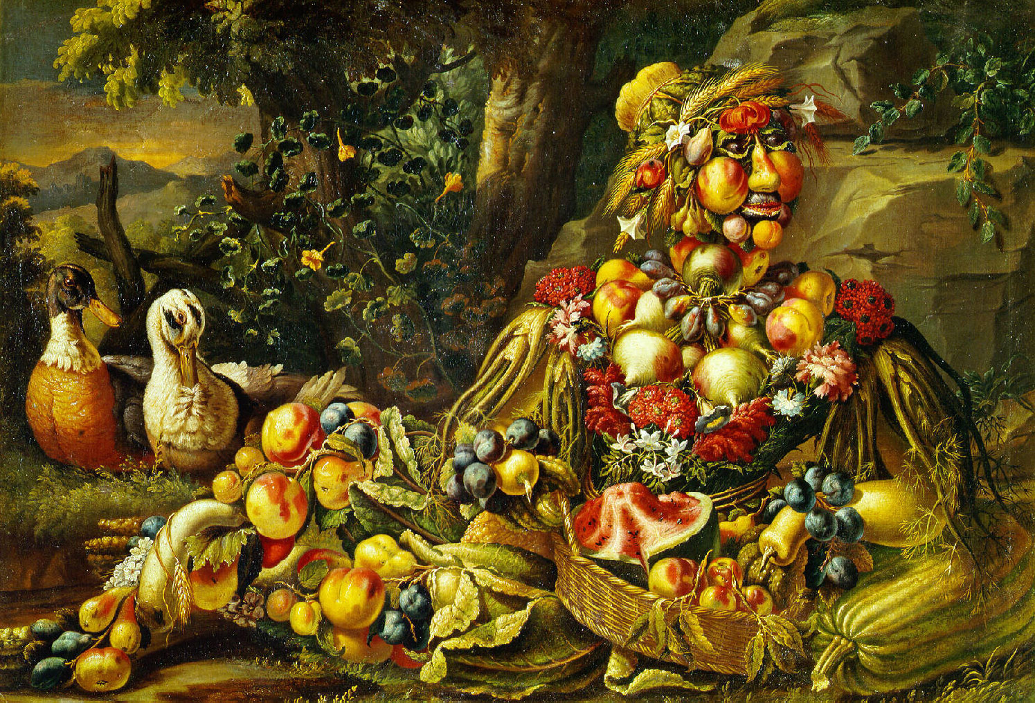 Antonio Rasio: Allegory of Summer in the style of Giuseppe Arcimboldo, circa 1685-1695