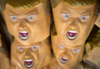 Rubber Trump masks, Ozawa Studios Inc. factory, Saitama, Japan, June 14, 2016