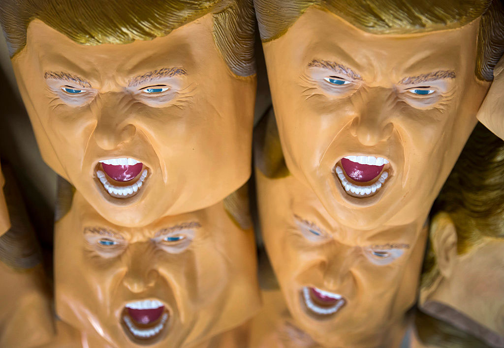 Rubber Trump masks, Ozawa Studios Inc. factory, Saitama, Japan, June 14, 2016
