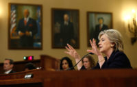 Hillary Clinton testifies before the House Select Committee on Benghazi, Washington, D.C., October 22, 2015.