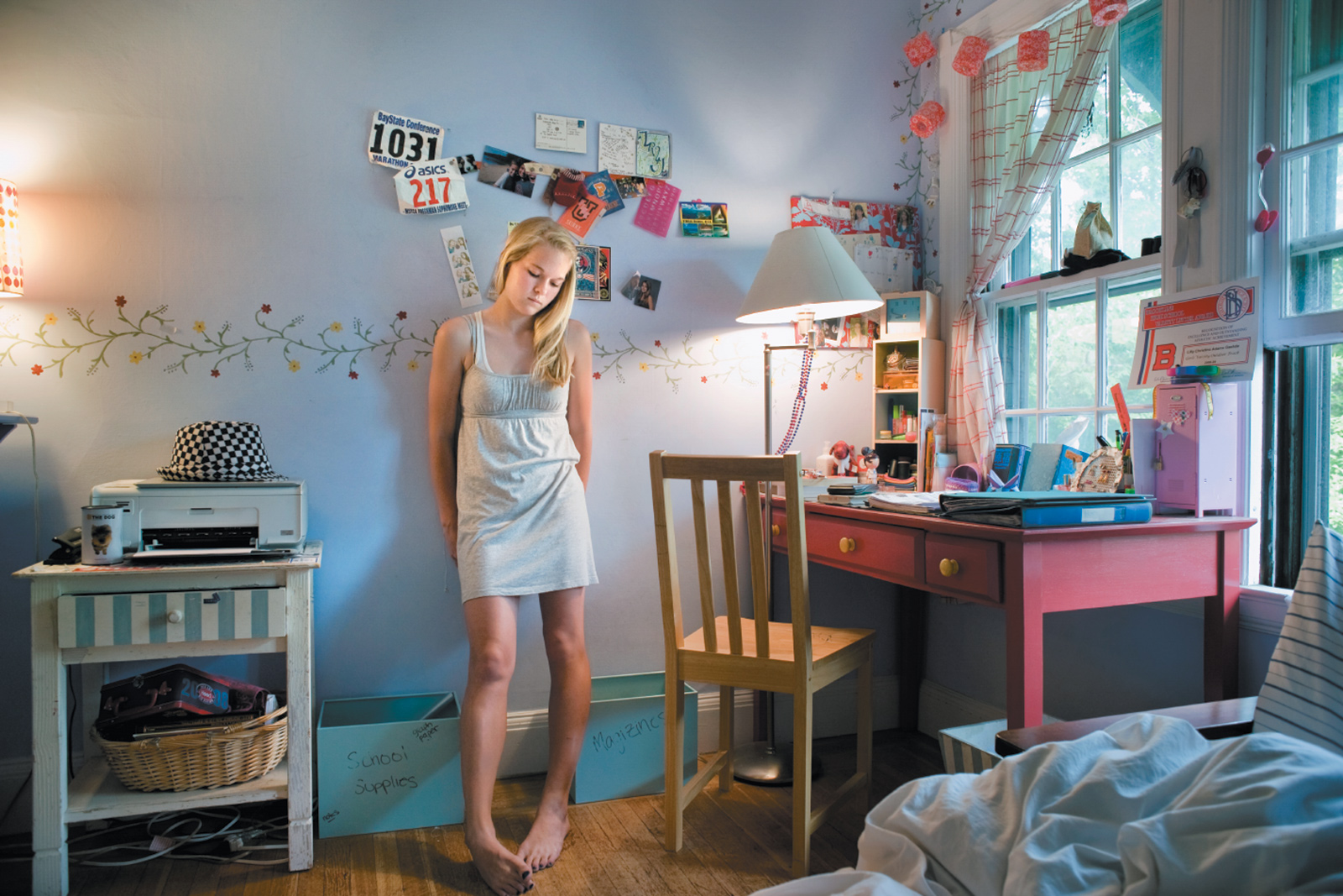 Lilly, Brookline, Massachusetts, 2009; from Rania Matar's A Girl and Her Room