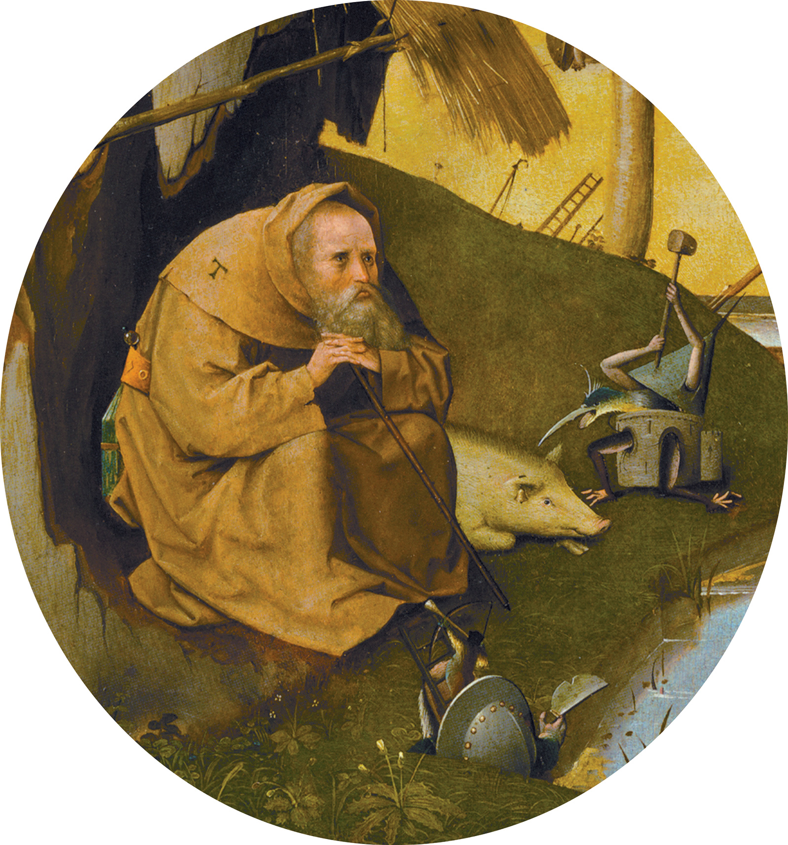 Detail of Hieronymus Bosch's The Temptations of Saint Anthony, circa 1510–1515; from 'Bosch: The Fifth Centenary Exhibition,' on view at the Museo Nacional del Prado, Madrid, until September 11, 2016.