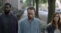 Tunde Adebimpe, Sebastián Silva, and Kristen Wiig in Silva's Nasty Baby, 2015