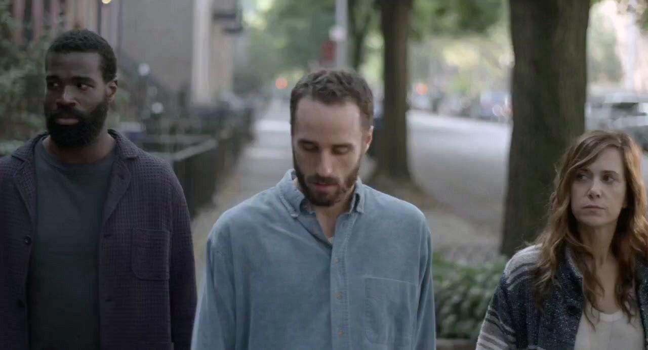 Tunde Adebimpe, Sebastián Silva, and Kristen Wiig in Silva's <em>Nasty Baby</em>, 2015