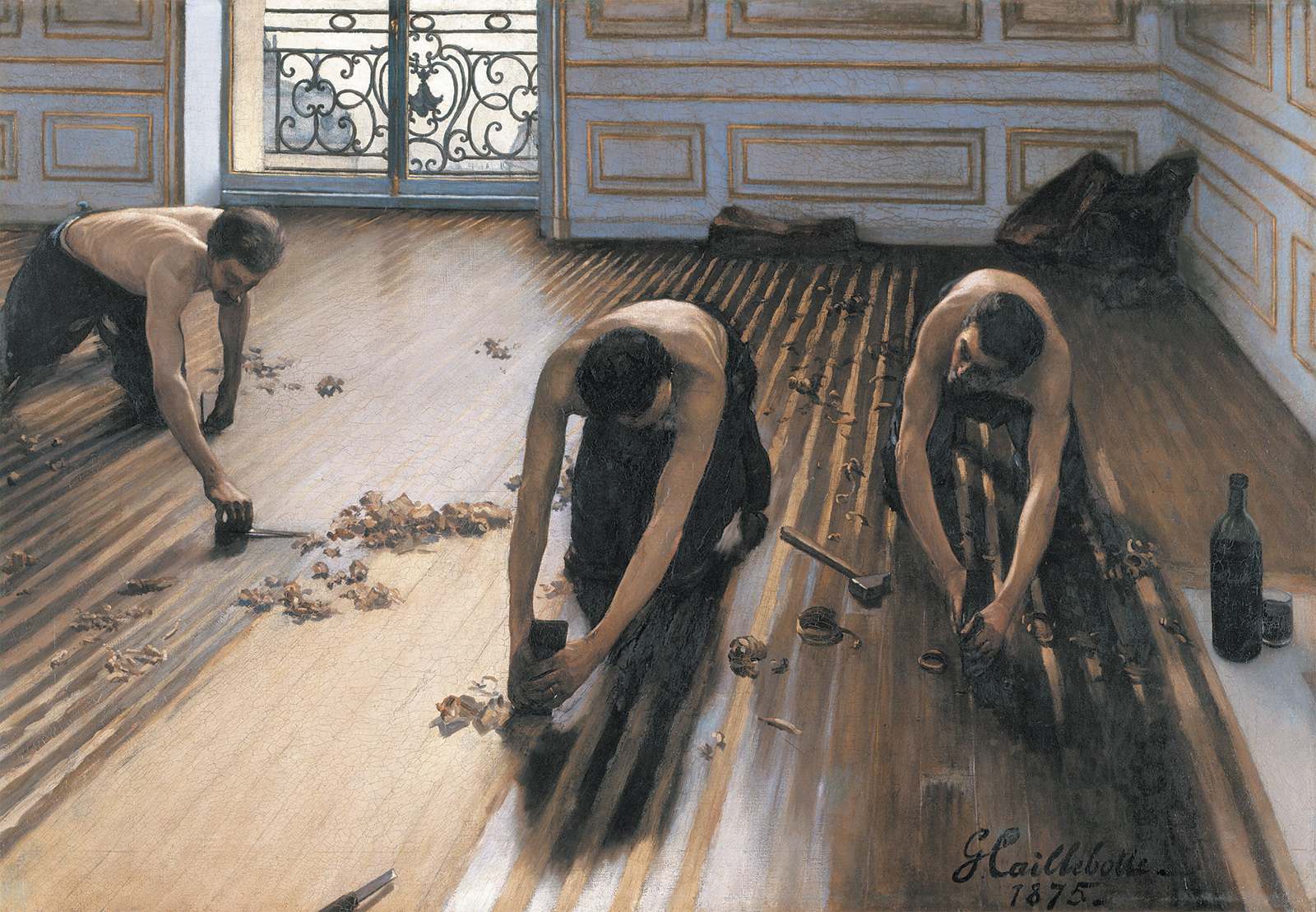 Gustave Caillebotte: The Floor Planers, 1875