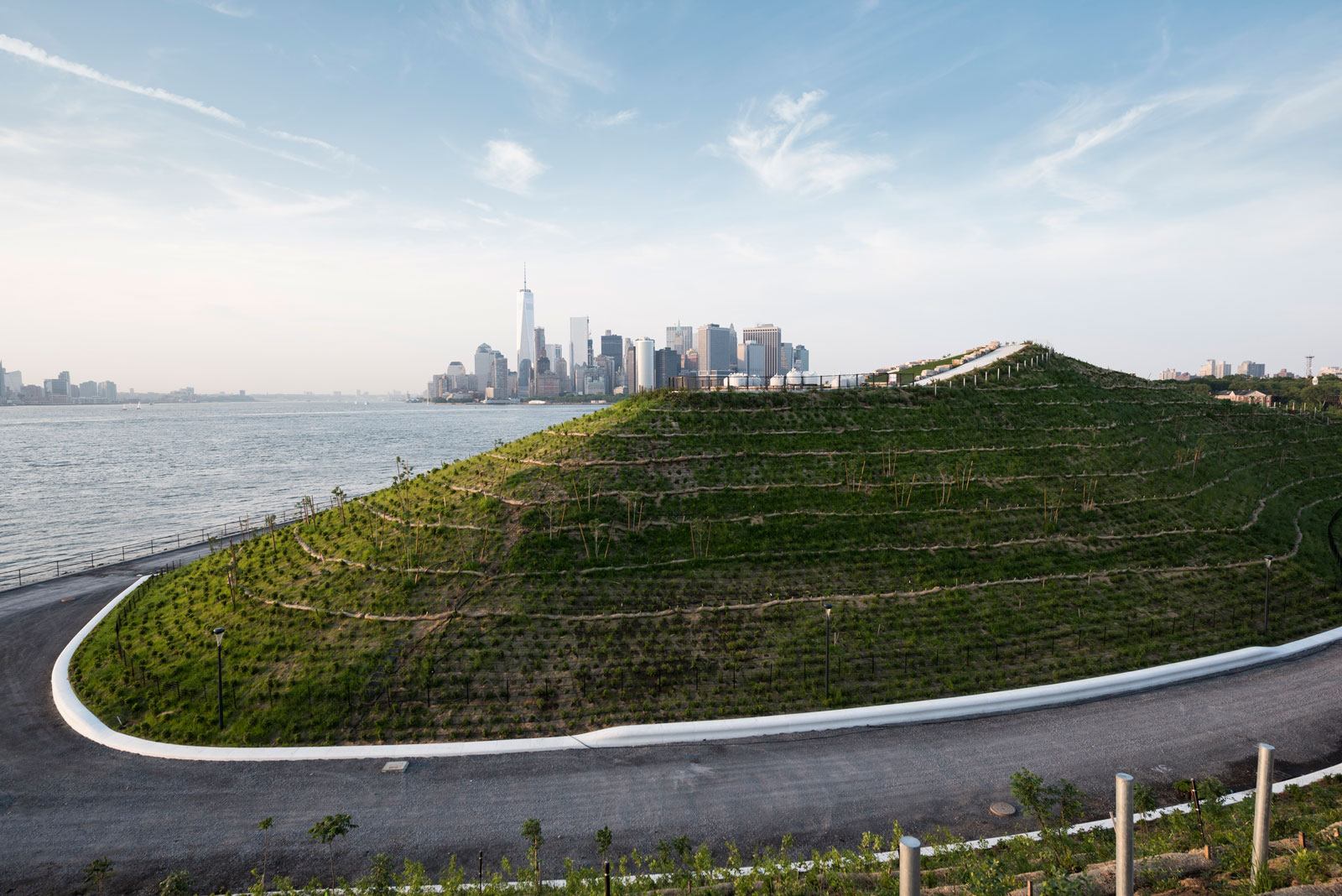 View of Outlook Hill and lower Manhattan in the distance, Governors Island, New York, 2016