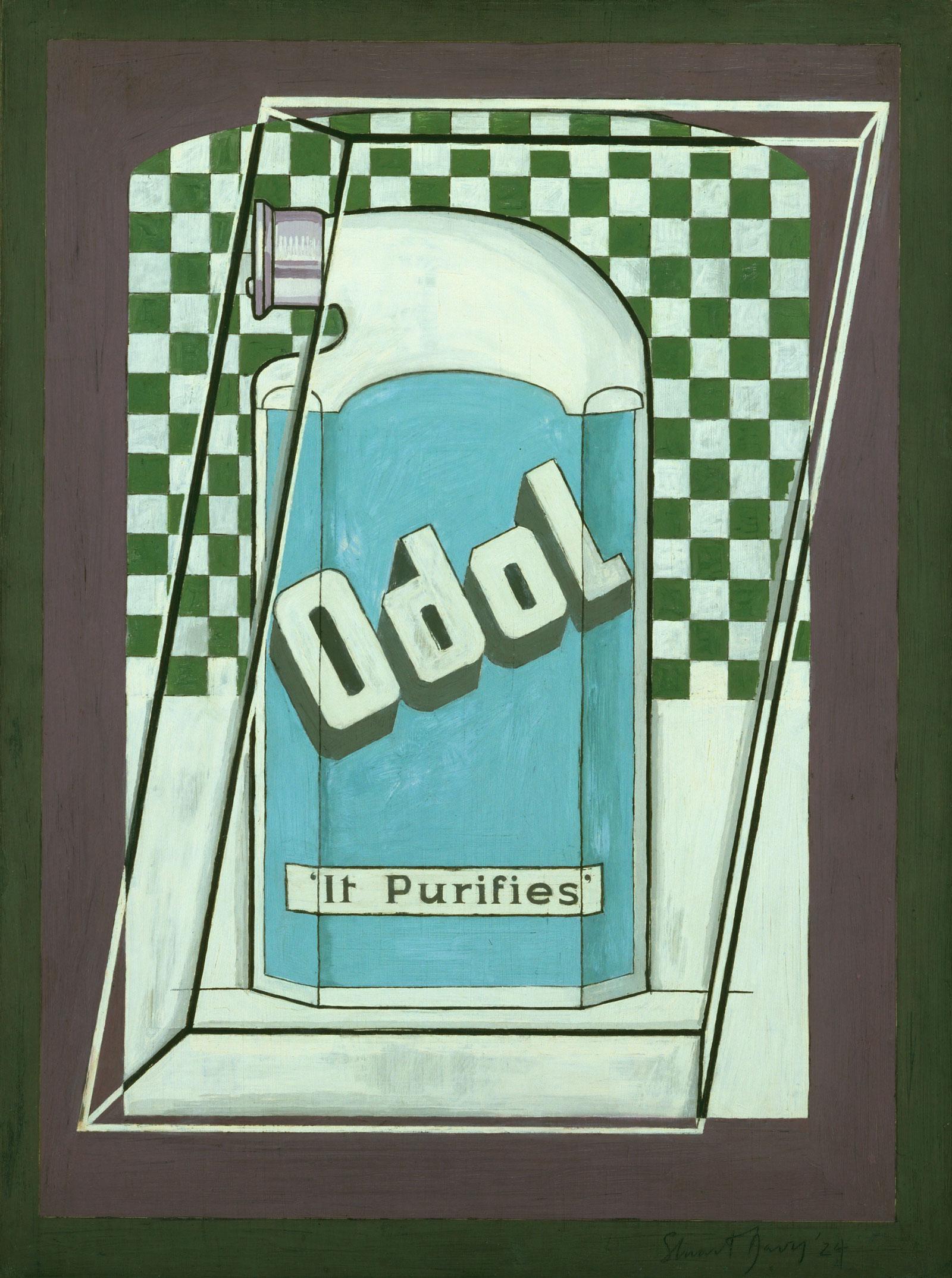 Stuart Davis: Odol, 1924