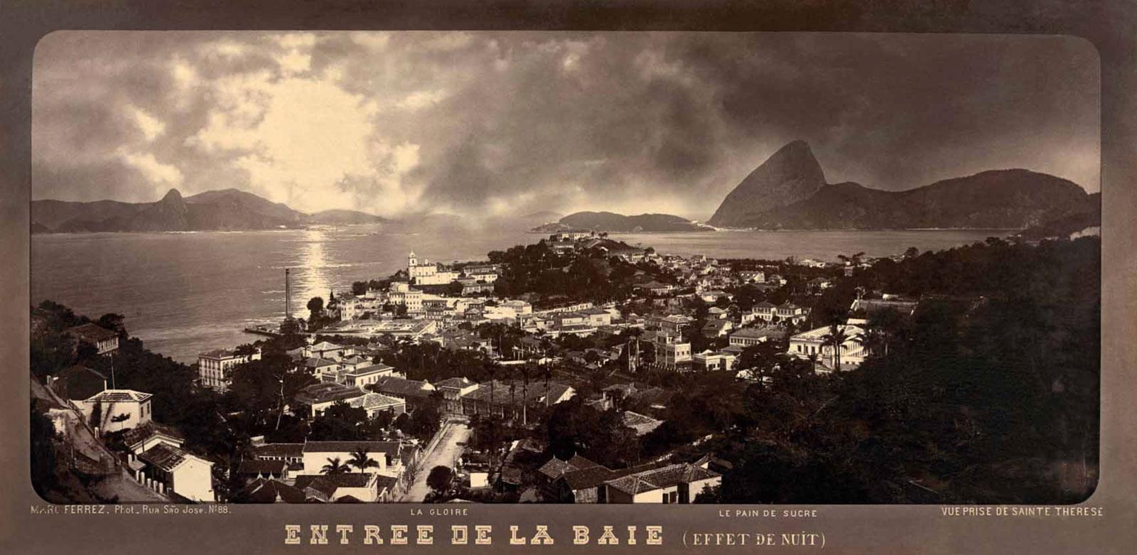 <em>Entrée de la Baie (Effet de Nuit)</em> (entrance to Guanabara Bay with a view of the Sugarloaf Mountain), circa 1885