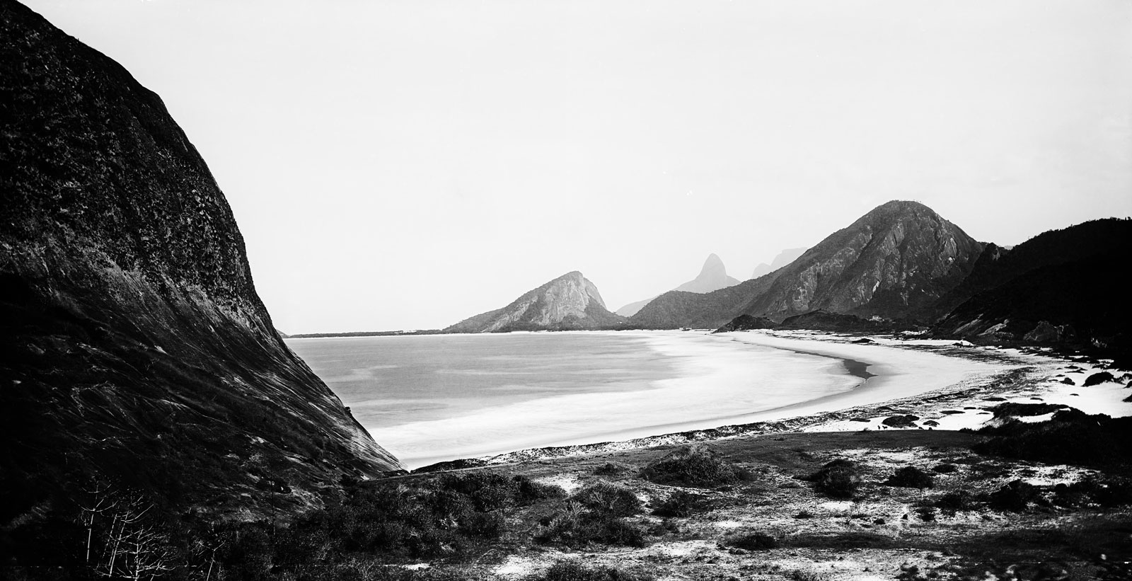 Copacabana Beach viewed from the foot of Leme Hill, circa 1890