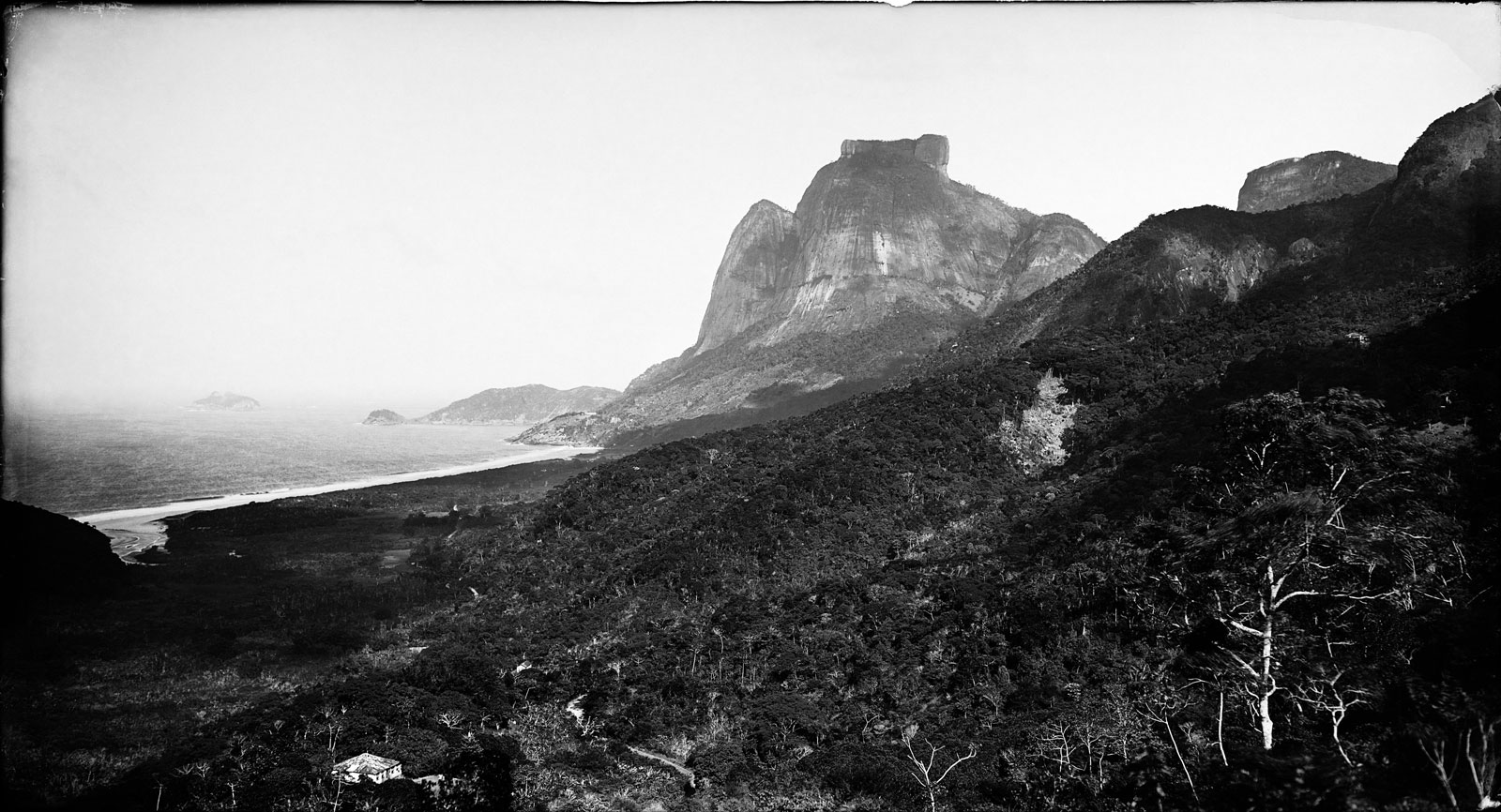 Pedra de Gávea Mountain and São Conrado Beach, circa 1890