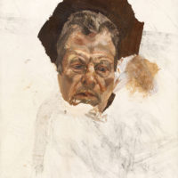 Unfinished self-portrait by Lucian Freud, circa 1980