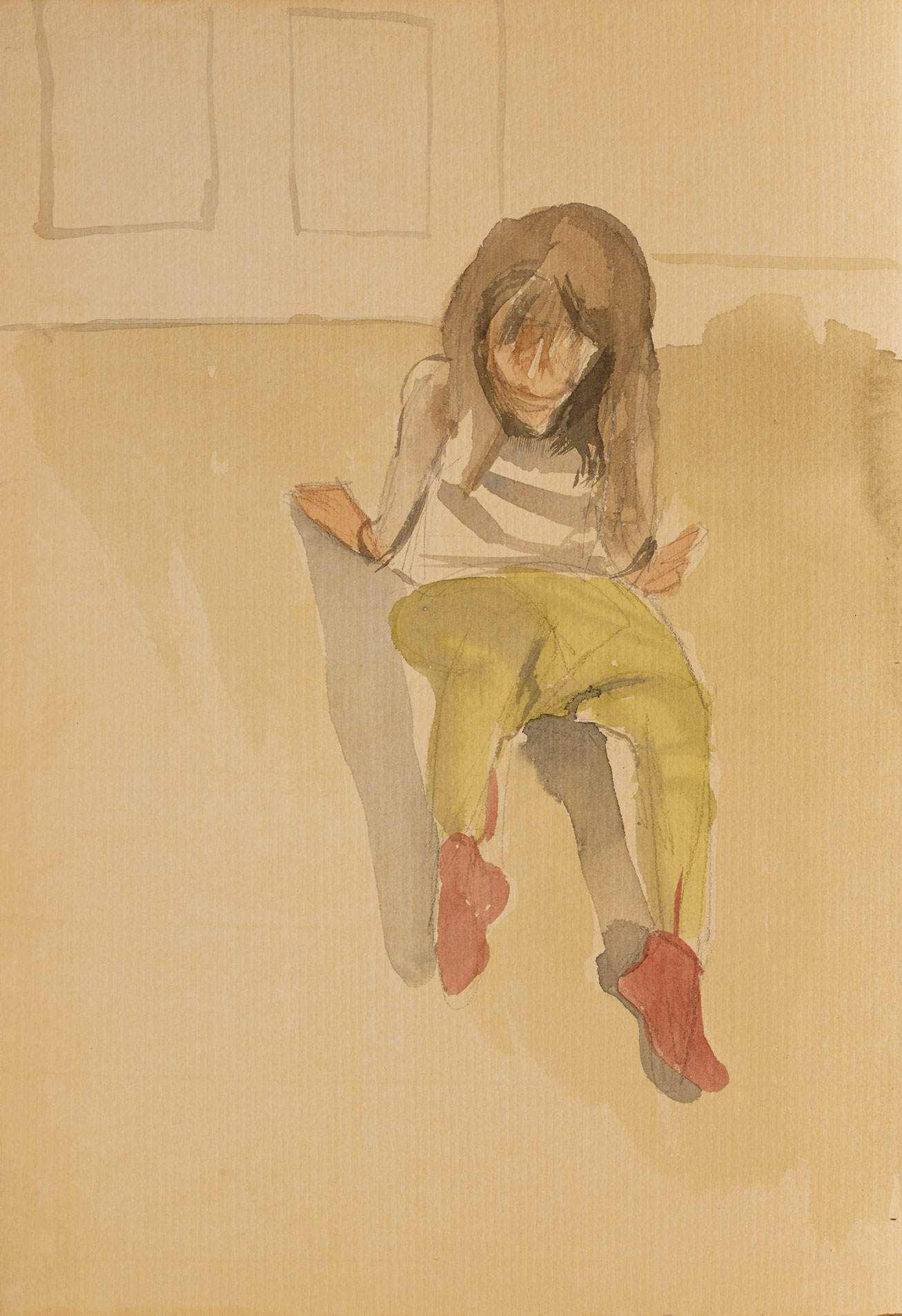 Lucian Freud: Child seated, circa 1961