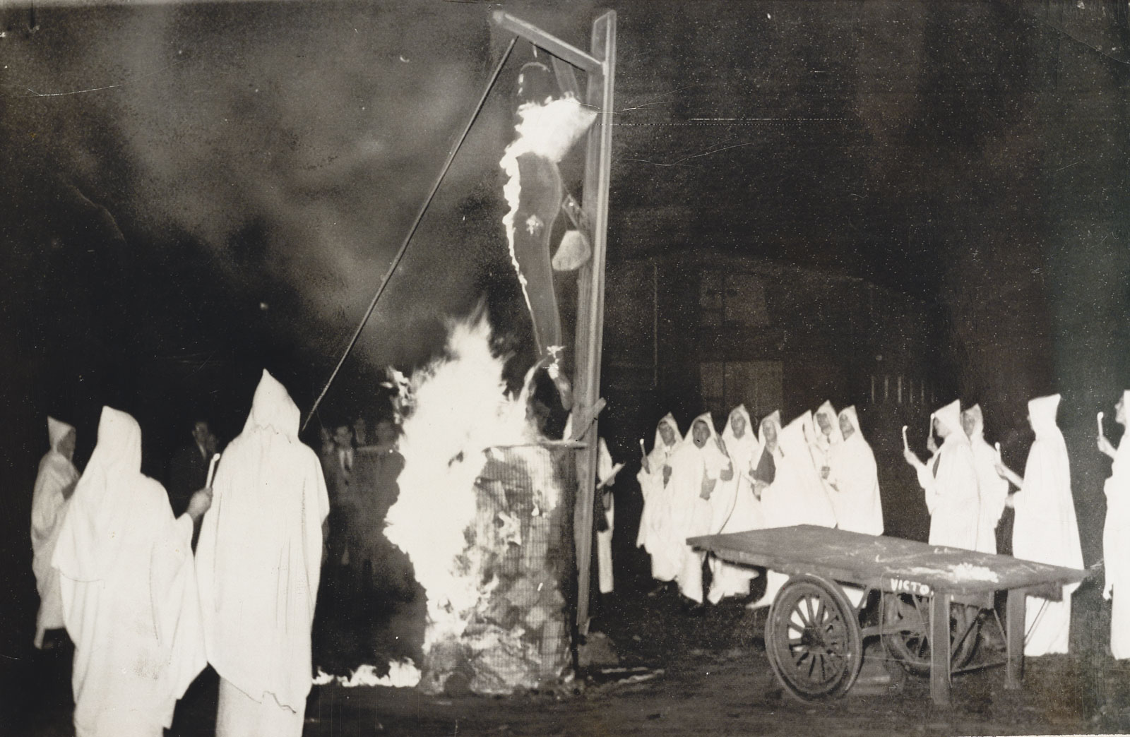 University of Toronto students burn an effigy of Joseph McCarthy, 1953