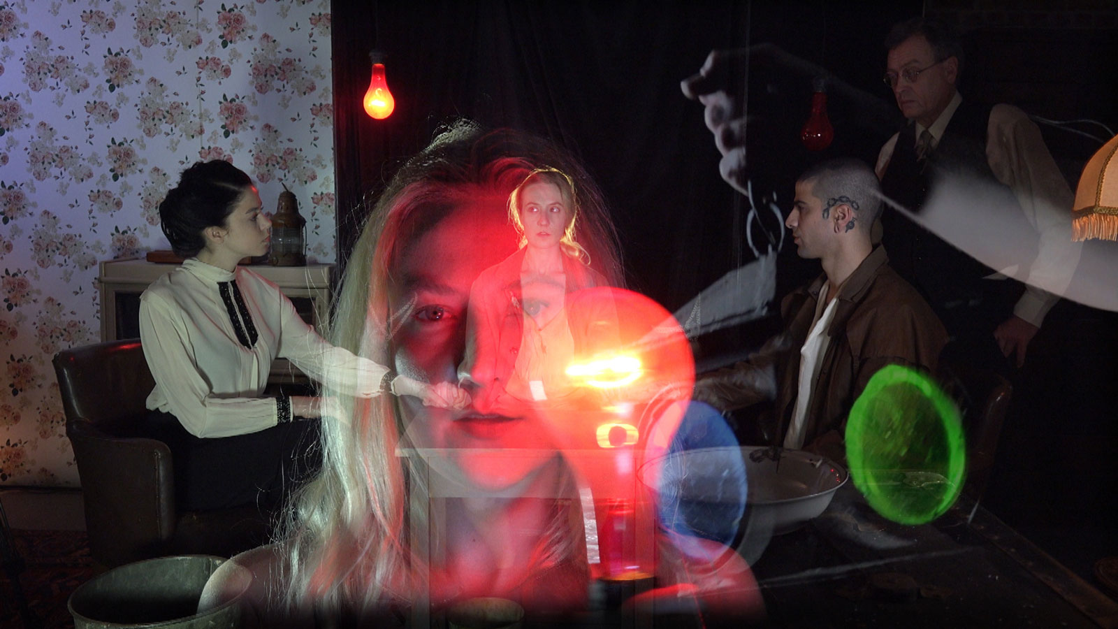A still from Tony Oursler's film <em>Imponderable</em>, 2015-2016