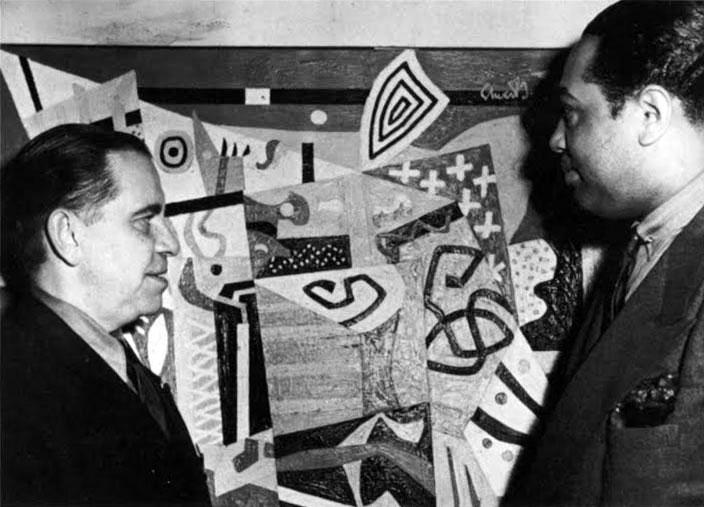 Stuart Davis and Duke Ellington, 1943