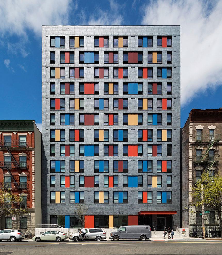 Alexander Gorlin Architects' Boston Road Supportive Housing (2013-2016), Bronx, New York