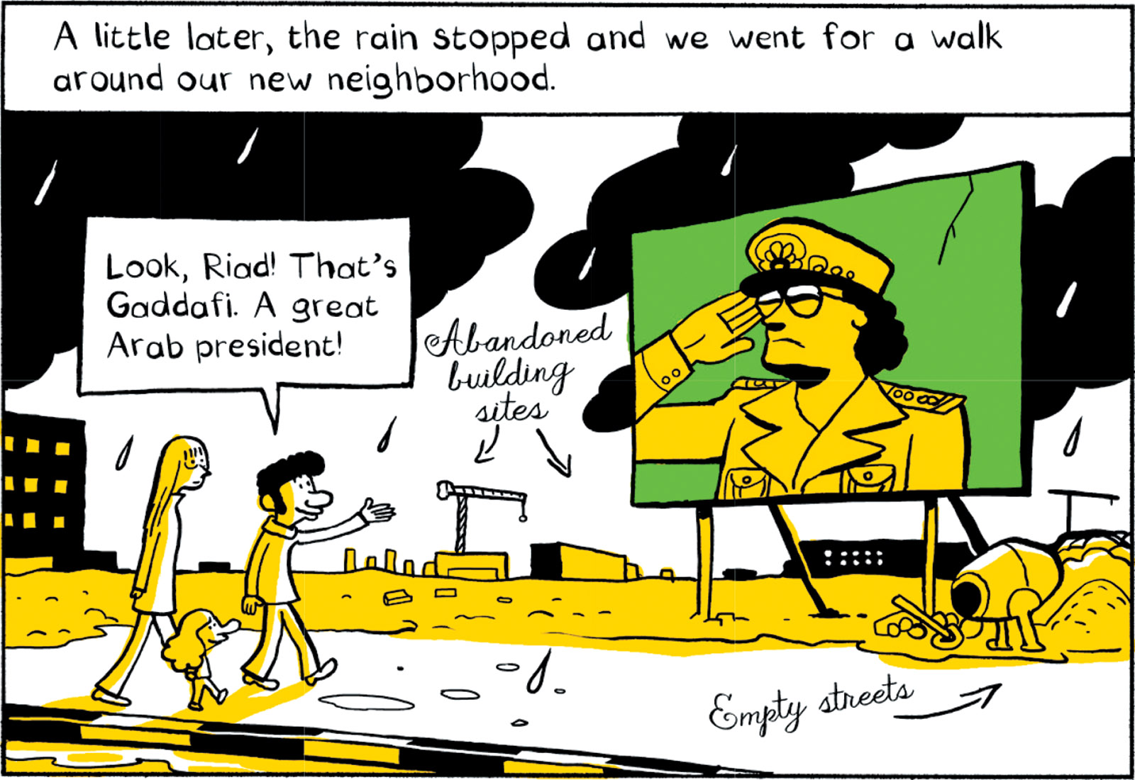 A panel from Riad Sattouf's graphic memoir The Arab of the Future
