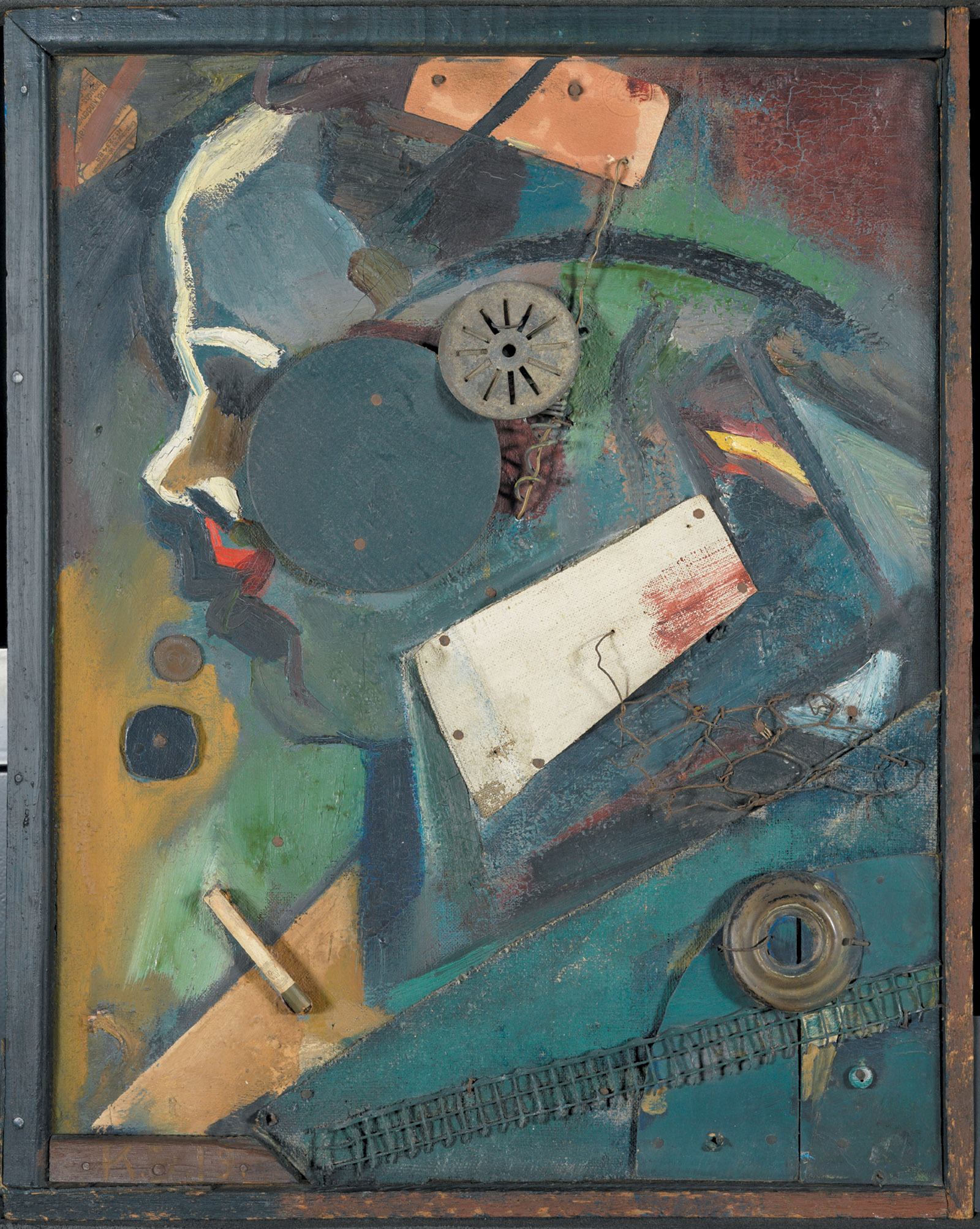 Kurt Schwitters: Merzbild 1A (The Psychiatrist), 1919