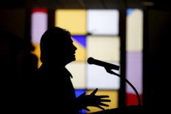 Hillary Clinton at the Russell Street Baptist Church, Detroit, Michigan, March 6, 2016