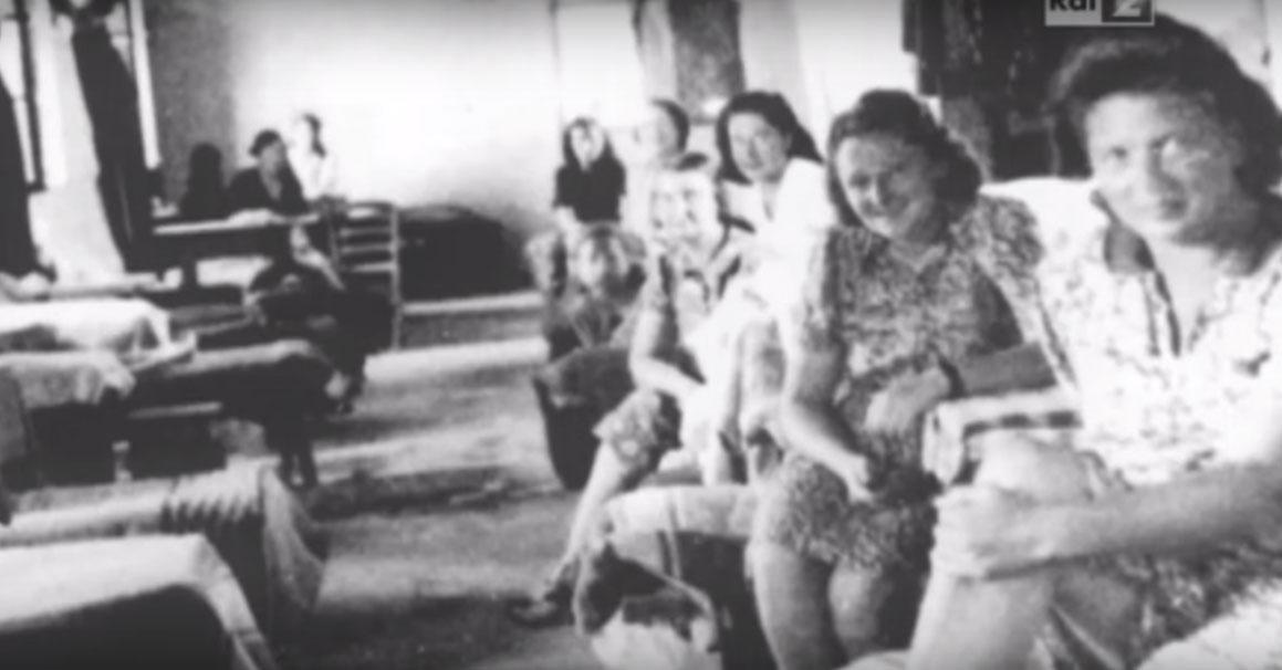 Female internees in the Ferramonti camp circa 1943