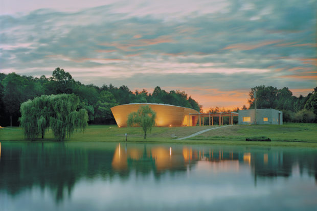 The Riggio-Lynch Chapel, designed by Maya Lin for the Children's Defense Fund, Haley Farm, Clinton, Tennessee, 2004; from <i>aya Lin: Topologies</i>