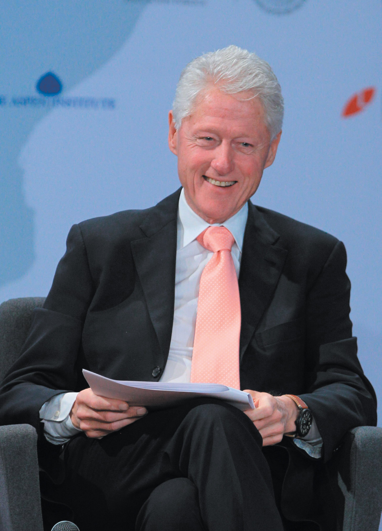 Bill Clinton at a summit on youth and productivity organized by the for-profit Laureate International Universities, Mexico City, February 2015