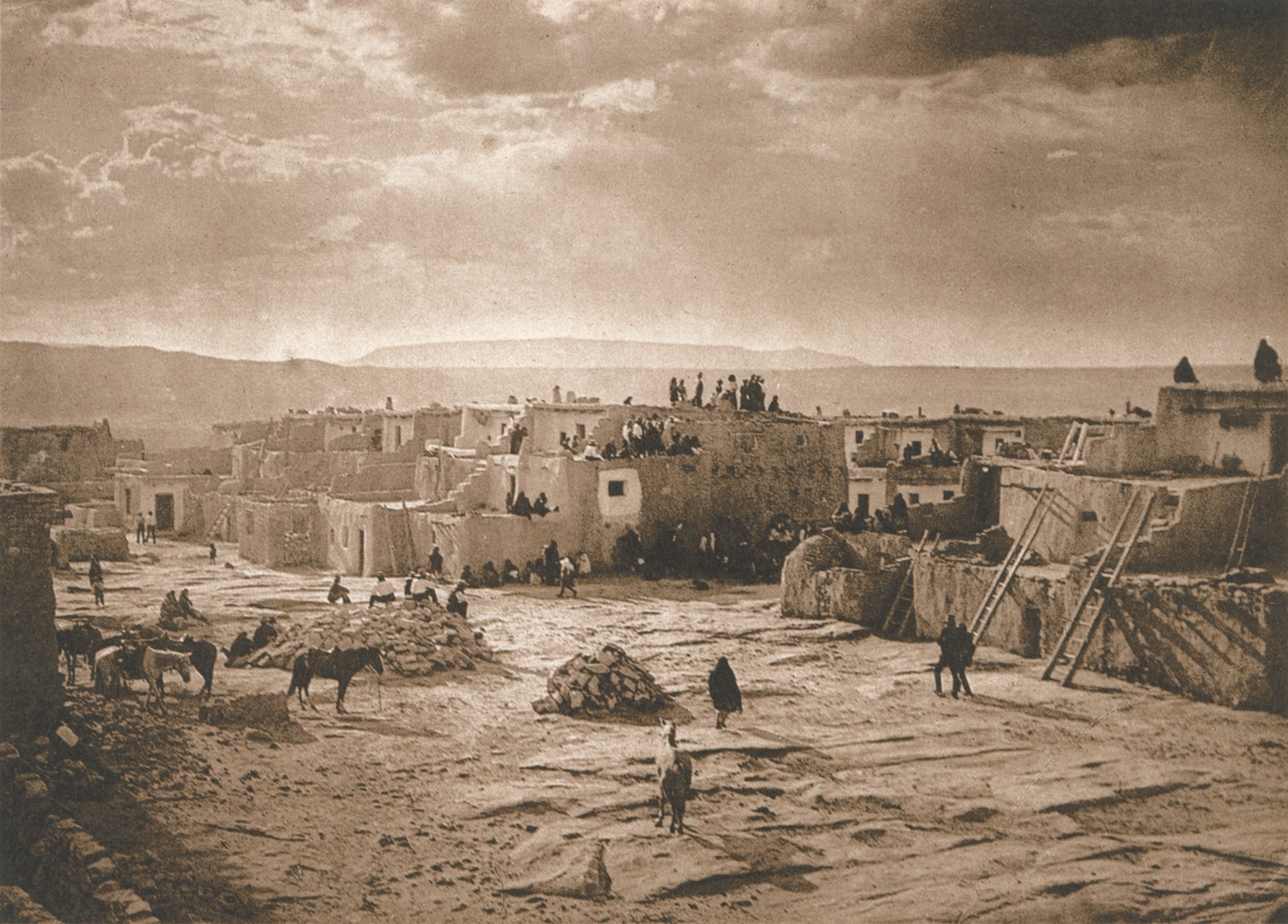 Edward S. Curtis: Feast Day at Acoma, 1904