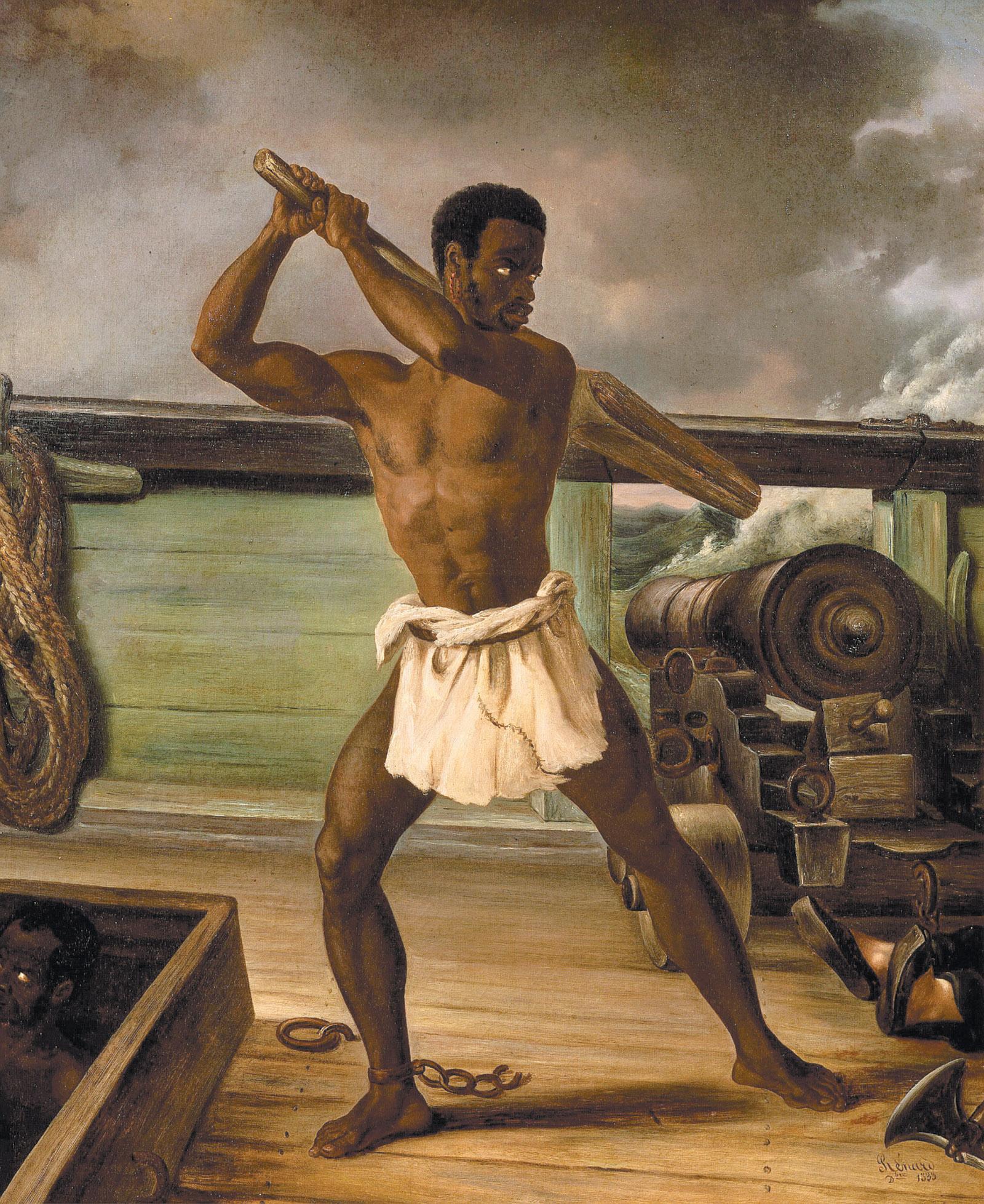 Edouard Antoine Renard: Rebellion of a Slave on a Slave Ship, 1833