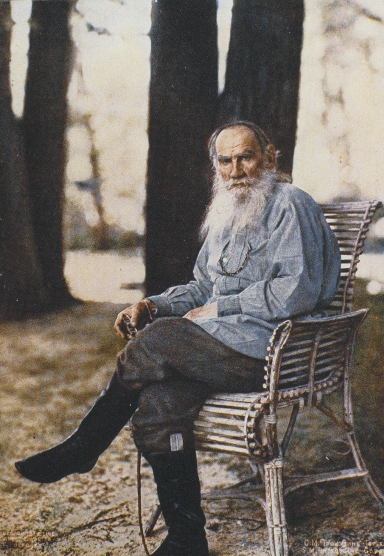 Leo Tolstoy at Yasnaya Polyana, the family estate where he wrote Anna Karenina, about 125 miles south of Moscow, May 1908